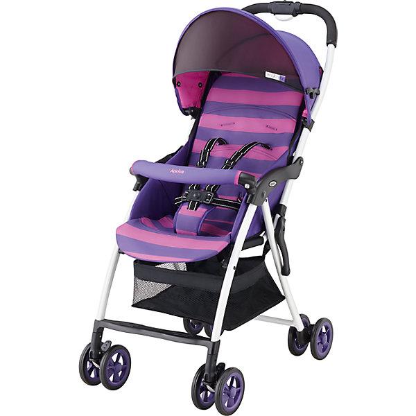 Прогулочная коляска Aprica Magical Air, фиолетовыйПрогулочные коляски<br>Супер легкая коляска прекрасно подойдет для отпуска, прогулок и шопинга.<br><br>Дополнительная информация:<br><br>Уникально малый вес – всего 2,8 кг<br>Коляска  легко складывается и раскладывается одним нажатием кнопки<br>Очень компактна в сложенном виде<br>Прочная рама дает возможность длительного использования<br>Солнцезащитный козырек защищает от УФ лучей<br>Удобный съемный бампер<br>Просторное, широкое сидение <br>Сдвоенные пары колес<br>верхняя часть матрасика на молнии (легко снимается и стирается при 30 град. С)<br>3D колеса увеличенного диаметра и ширины<br>Комплектация: Прогулочный блок, Рама, 5-точечные внутренние ремни<br>Вес ребенка: до 15 кг<br>Тип складывания«книжка»<br>Регулировка спинки: есть, 118-135°<br>Горизонтальное положение спинки: нет<br>Перекидная ручка: нет<br>Внутренние ремни: есть, 5-точечные<br>Съемные подушки: да, можно стирать<br>Корзина для вещей сетчатая<br>Размеры в разложенном виде (Ш?Д?В)46?80?97 см<br>Размеры в сложенном виде (Ш?Д?В)46?27?97 см<br>Внутренняя ширина сидения 32 см<br><br>Прогулочную коляску Magical Air, Aprica, фиолетовый можно купить в нашем магазине.<br><br>Ширина мм: 970<br>Глубина мм: 470<br>Высота мм: 270<br>Вес г: 4900<br>Цвет: лиловый<br>Возраст от месяцев: 6<br>Возраст до месяцев: 36<br>Пол: Женский<br>Возраст: Детский<br>SKU: 4639432