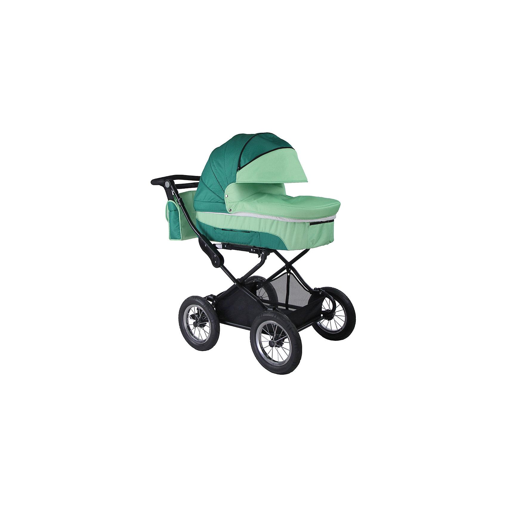 Коляска 2 в 1 BabyHit EVENLY , зеленыйКоляски 2 в 1<br>Универсальная коляска 2 в 1 Babyhit Evenly - достойный претендент на роль первого транспортного средства для Вашего малыша. Практичная, очень комфортная и надежная станет приятным приобретением,  как для Вас, так и для Вашего ребенка на протяжении всего срока эксплуатации.<br><br>Дополнительная информация::<br><br>Капюшон «батискаф» на люльке и прогулочном блоке<br>Регулируемая спинка прогулочного сиденья (до положения «лежа»)<br>Регулируемая по высоте ручка<br>Установка люльки и прогулочного блока в любом направлении движения<br>Ремни для переноски люльки в боковых карманах<br>Съемный поручень прогулочного сиденья с паховым ремнем<br>Колеса надувные, диаметр 30 см<br>Система амортизации на всех колесах<br>Багажная корзина<br><br>В комплекте:<br><br>Дождевик<br>Москитная сетка<br>Два полога<br>Сумка для мамы<br>Вес коляски с прогулочным блоком - 16,5 кг<br>Вес коляски с люлькой - 16 кг.<br>Вес прогулочного блока - 5,5 кг<br>Вес люльки - 5 кг<br>Вес рамы - 11 кг.<br><br>Коляску 2-в-1 EVENLY BabyHit, зеленый можно купить в нашем магазине.<br><br>Ширина мм: 520<br>Глубина мм: 320<br>Высота мм: 850<br>Вес г: 22000<br>Цвет: зеленый<br>Возраст от месяцев: 0<br>Возраст до месяцев: 36<br>Пол: Унисекс<br>Возраст: Детский<br>SKU: 4640310