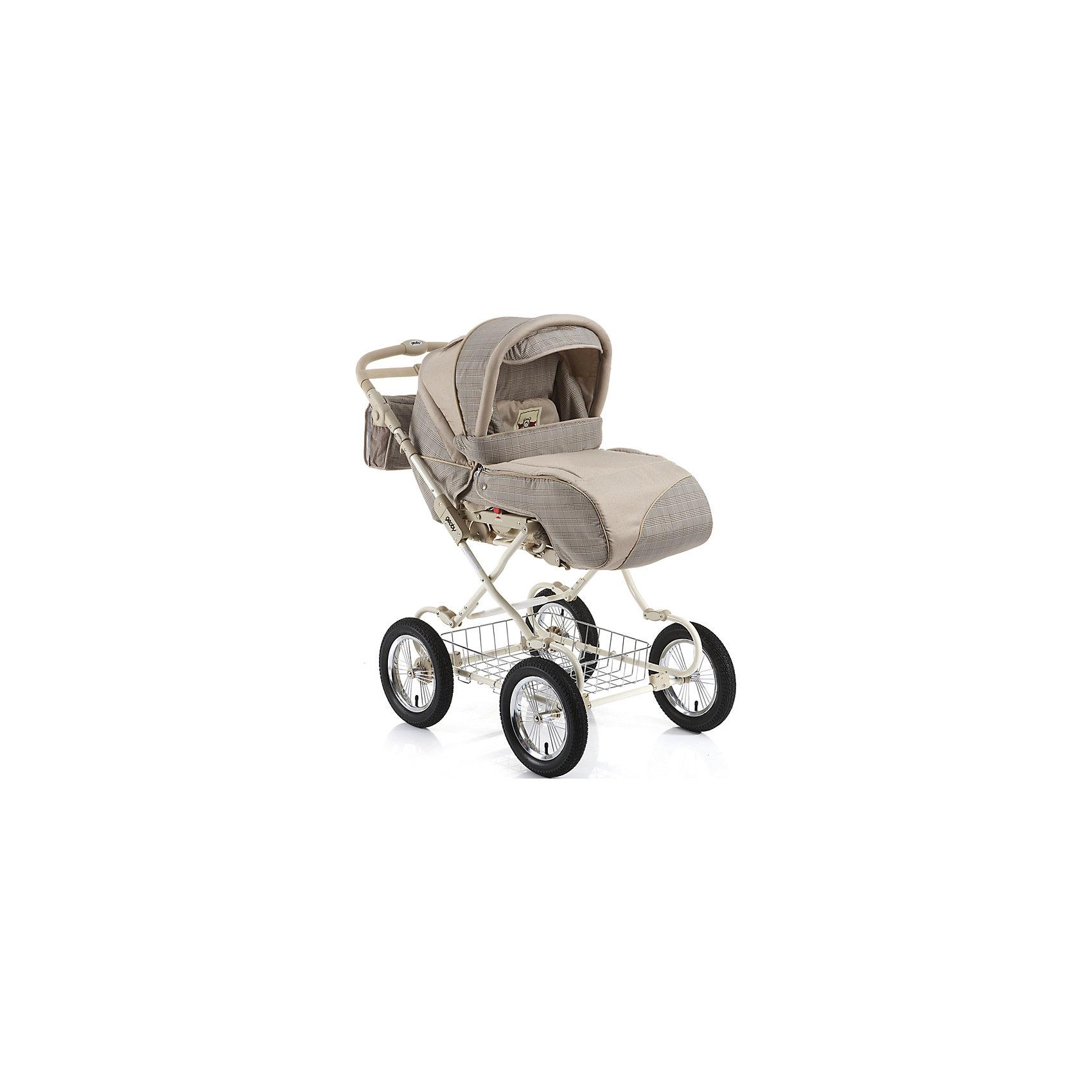 Коляска-трансформер 05C601H (340), Geoby, бежевыйКоляска универсальная Geoby (Геоби) С601H – невероятно уютная и просторная даже для крупного малыша. В ней крохе мягко и комфортно, а ткань обивки гипоаллергенна, легко чистится и всегда радует своим первозданным видом. Немаловажная деталь коляски - большие колеса, благодаря которым коляска отличается хорошей проходимостью и устойчивостью. Амортизация делает все поездки особенно приятными и комфортными для малыша. Стальная рама и прочная конструкция делают модель надежной и очень практичной, а главное – безопасной для малыша. Система пятиточечных ремней комфортно закрепить кроху в сидении, не вызывая у малыша негодования или возмущений. Широкий капюшон, козырек от солнца и смотровое окошко позволяют маме с легкостью заботиться о крохе во время прогулок.<br><br>Дополнительная информация:<br><br>Стальная рама<br>3 положения наклона спинки<br>2 положения подножки<br>Пневмоколеса<br>Амортизационная подвеска<br>Съемные колеса на подшипниках<br>Съемный прогулочный блок устанавливается в любом направлении движения<br>Ремни для переноски прогулочного блока<br>Светоотражающие полосы<br>Регулируемая по высоте ручка<br>Система ремней безопасности<br>Смотровое окно<br>Вентиляционное окно<br>Складной козырек от солнца<br>Багажная корзина.<br>В комплекте: полог, сумка, дождевик, москитная сетка, матрасик, люлька для переноски ребенка, насос.<br>Размер в разложенном виде: 895 х 600 х 1045 мм.<br>Диаметр колес: 30 см.<br>Вес коляски: 20,5 кг. <br><br>Коляску-трансформер 05C601H (340), Geoby (Геоби), бежевый можно купить в нашем магазине.<br><br>Ширина мм: 535<br>Глубина мм: 400<br>Высота мм: 900<br>Вес г: 24100<br>Возраст от месяцев: 0<br>Возраст до месяцев: 36<br>Пол: Унисекс<br>Возраст: Детский<br>SKU: 4640531