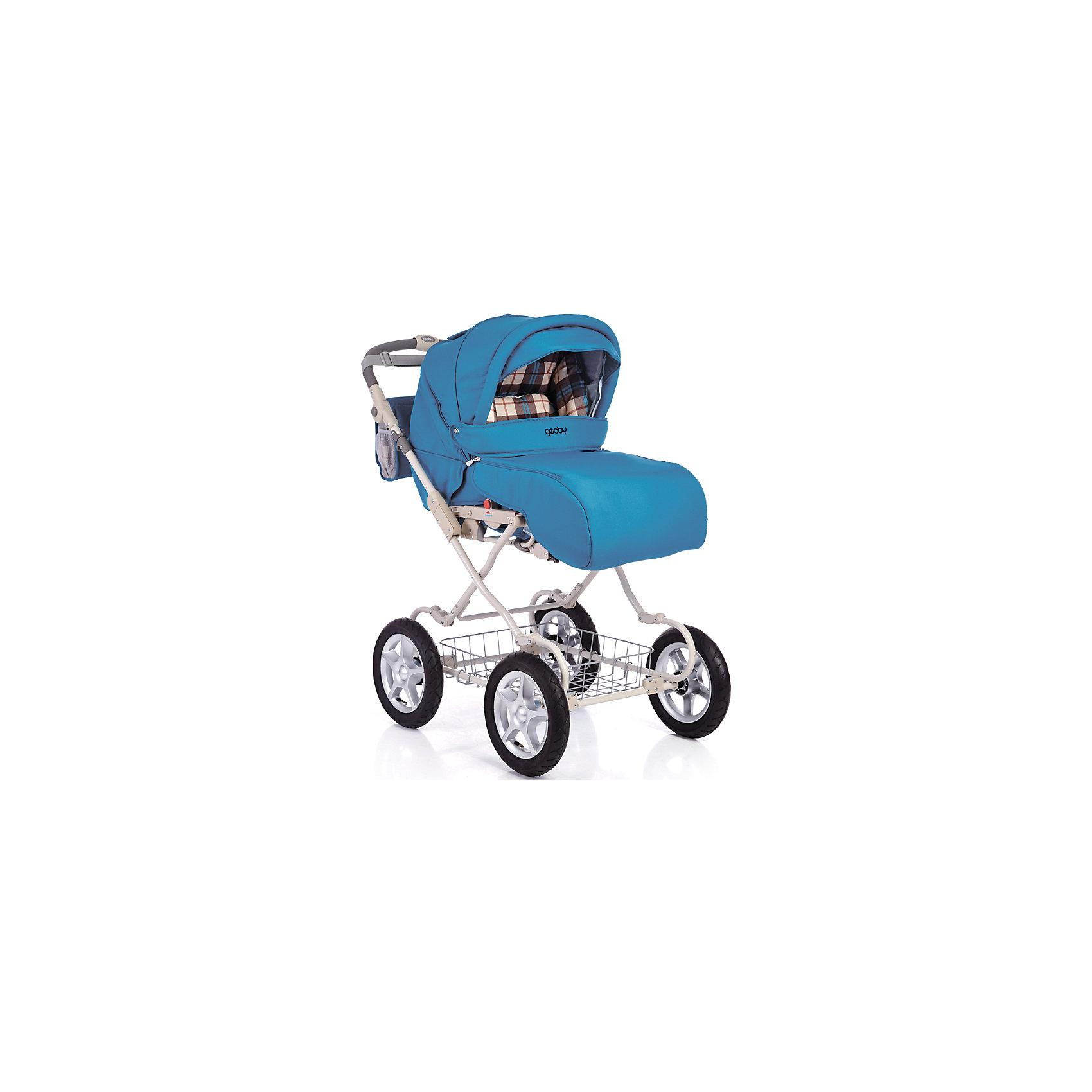 Коляска-трансформер 05C601H (RHLL), Geoby, синийКоляска универсальная Geoby (Геоби) С601H – невероятно уютная и просторная даже для крупного малыша. В ней крохе мягко и комфортно, а ткань обивки гипоаллергенна, легко чистится и всегда радует своим первозданным видом. Немаловажная деталь коляски - большие колеса, благодаря которым коляска отличается хорошей проходимостью и устойчивостью. Амортизация делает все поездки особенно приятными и комфортными для малыша. Стальная рама и прочная конструкция делают модель надежной и очень практичной, а главное – безопасной для малыша. Система пятиточечных ремней комфортно закрепить кроху в сидении, не вызывая у малыша негодования или возмущений. Широкий капюшон, козырек от солнца и смотровое окошко позволяют маме с легкостью заботиться о крохе во время прогулок.<br><br>Дополнительная информация:<br><br>Стальная рама<br>3 положения наклона спинки<br>2 положения подножки<br>Пневмоколеса<br>Амортизационная подвеска<br>Съемные колеса на подшипниках<br>Съемный прогулочный блок устанавливается в любом направлении движения<br>Ремни для переноски прогулочного блока<br>Светоотражающие полосы<br>Регулируемая по высоте ручка<br>Система ремней безопасности<br>Смотровое окно<br>Вентиляционное окно<br>Складной козырек от солнца<br>Багажная корзина.<br>В комплекте: полог, сумка, дождевик, москитная сетка, матрасик, люлька для переноски ребенка, насос.<br>Размер в разложенном виде: 895 х 600 х 1045 мм.<br>Диаметр колес: 30 см.<br>Вес коляски: 20,5 кг. <br><br>Коляску-трансформер 05C601H (RHLL), Geoby (Геоби), синий можно купить в нашем магазине.<br><br>Ширина мм: 535<br>Глубина мм: 400<br>Высота мм: 900<br>Вес г: 24100<br>Возраст от месяцев: 0<br>Возраст до месяцев: 36<br>Пол: Мужской<br>Возраст: Детский<br>SKU: 4640533