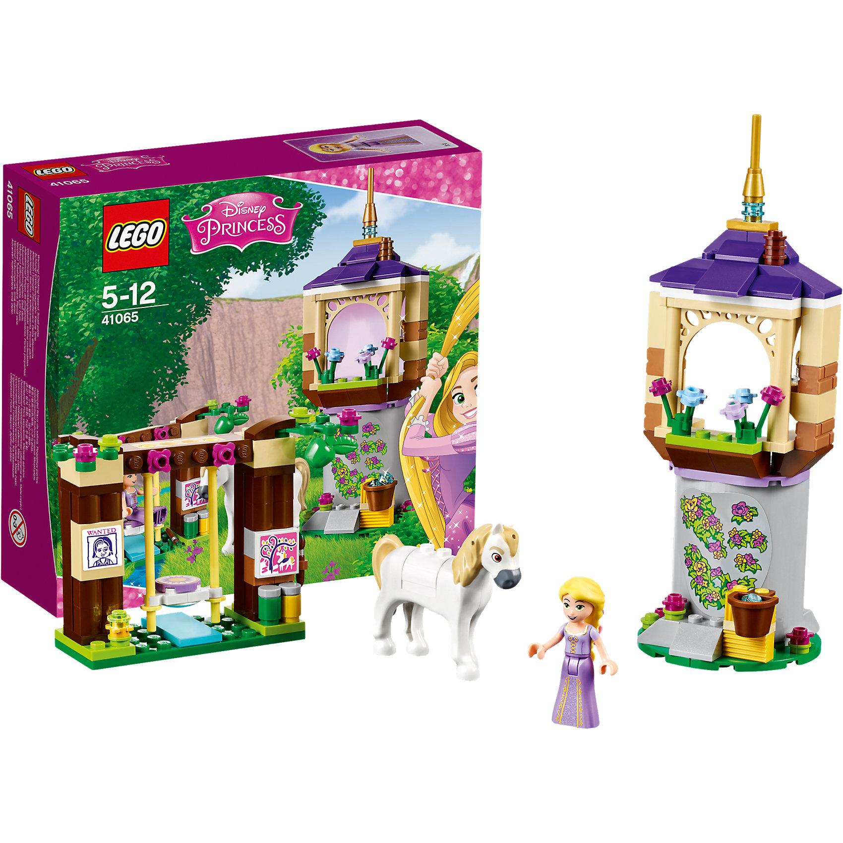 LEGO Disney Princesses 41065: Лучший день РапунцельПластмассовые конструкторы<br>Главную героиню мультфильма Рапунцель обожает множество современных девочек, поэтому набор Лего из её фигурки и конструктора в этой тематике обязательно обрадует ребенка. Такие игрушки помогают детям развивать воображение, мелкую моторику, логику и творческое мышление.<br>Набор состоит из фигурки Рапунцель, коня Максимуса, замка и других аксессуаров. С таким комплектом можно придумать множество игр!<br><br>Дополнительная информация:<br><br>цвет: разноцветный;<br>размер коробки: 20 х 6 х 19 см;<br>вес: 319 г;<br>материал: пластик;<br>количество деталей: 145.<br><br>Набор Лучший день Рапунцель от бренда LEGO Disney Princesses можно купить в нашем магазине.<br><br>Ширина мм: 203<br>Глубина мм: 190<br>Высота мм: 66<br>Вес г: 247<br>Возраст от месяцев: 60<br>Возраст до месяцев: 144<br>Пол: Женский<br>Возраст: Детский<br>SKU: 4641187