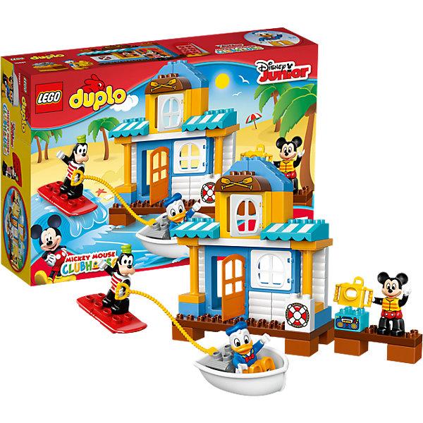LEGO DUPLO 10827: Домик на пляжеПластмассовые конструкторы<br>Героев из мультфильмов Диснея обожает множество современных детей, поэтому набор Лего, из которого можно собрать домик на пляже, обязательно обрадует ребенка. Такие игрушки помогают детям развивать воображение, мелкую моторику, логику и творческое мышление.<br>Набор состоит из деталей, с помощью которых можно сделать домик, а также в нем есть фигурки любимых персонажей! С таким комплектом можно придумать множество игр!<br><br>Дополнительная информация:<br><br>цвет: разноцветный;<br>размер коробки: 38,2 х 9,4 х 26,2 см;<br>вес: 780 г;<br>материал: пластик;<br>количество деталей: 48.<br><br>Набор Домик на пляже  от бренда LEGO DUPLO можно купить в нашем магазине.<br>Ширина мм: 386; Глубина мм: 261; Высота мм: 96; Вес г: 762; Возраст от месяцев: 24; Возраст до месяцев: 60; Пол: Унисекс; Возраст: Детский; SKU: 4641193;