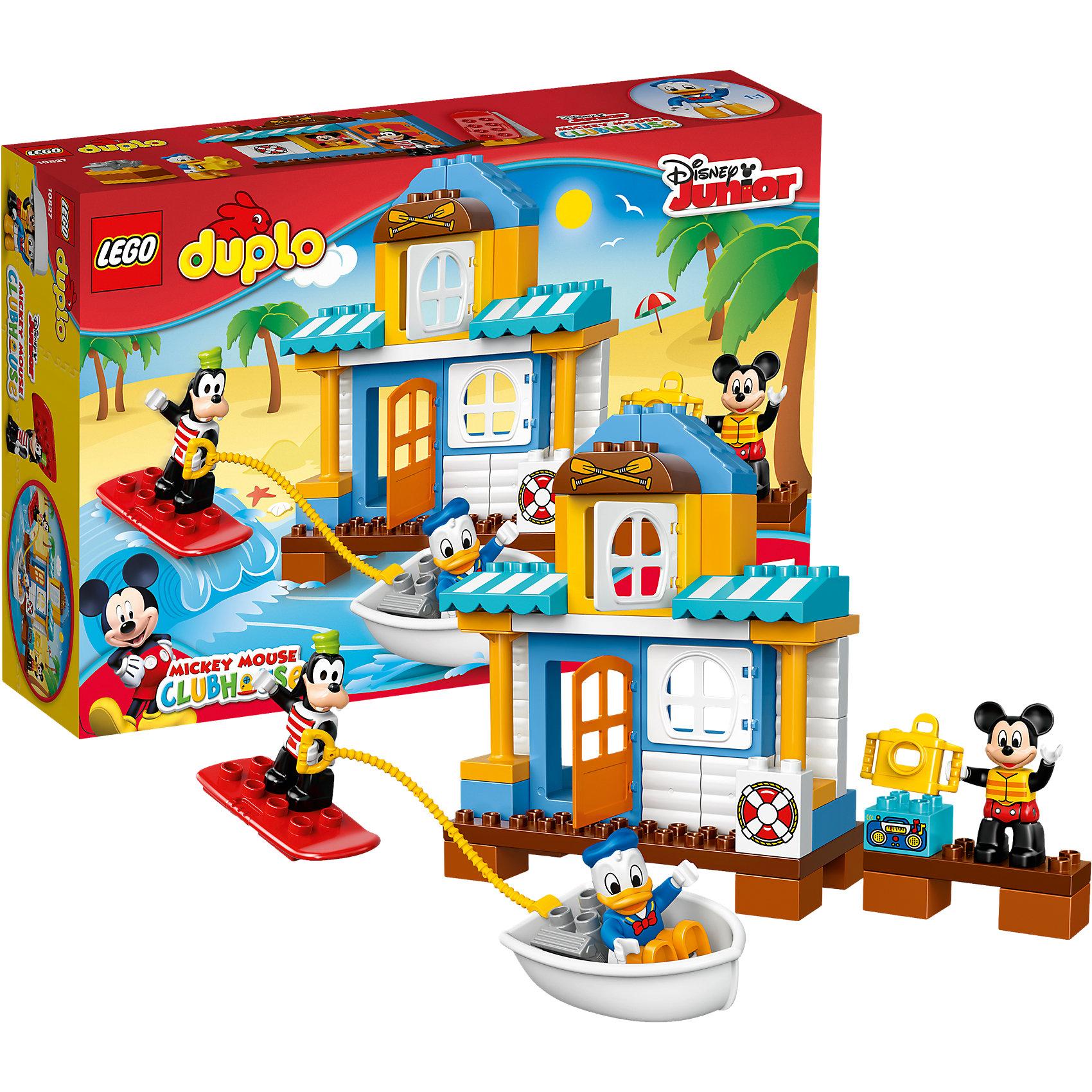 LEGO DUPLO 10827: Домик на пляжеКонструкторы для малышей<br>Героев из мультфильмов Диснея обожает множество современных детей, поэтому набор Лего, из которого можно собрать домик на пляже, обязательно обрадует ребенка. Такие игрушки помогают детям развивать воображение, мелкую моторику, логику и творческое мышление.<br>Набор состоит из деталей, с помощью которых можно сделать домик, а также в нем есть фигурки любимых персонажей! С таким комплектом можно придумать множество игр!<br><br>Дополнительная информация:<br><br>цвет: разноцветный;<br>размер коробки: 38,2 х 9,4 х 26,2 см;<br>вес: 780 г;<br>материал: пластик;<br>количество деталей: 48.<br><br>Набор Домик на пляже  от бренда LEGO DUPLO можно купить в нашем магазине.<br><br>Ширина мм: 385<br>Глубина мм: 261<br>Высота мм: 101<br>Вес г: 770<br>Возраст от месяцев: 24<br>Возраст до месяцев: 60<br>Пол: Унисекс<br>Возраст: Детский<br>SKU: 4641193