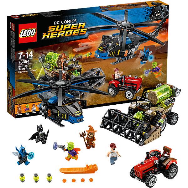 LEGO Super Heroes 76054: Бэтмен: жатва страхаКонструкторы Лего<br>Бэтмена обожает множество современных мальчишек, поэтому набор Лего, из которого можно собрать разные сюжеты про его подвиги, обязательно порадует ребенка. Такие игрушки помогают детям развивать воображение, мелкую моторику, логику и творческое мышление.<br>Набор состоит из множества деталей, с помощью которых можно  собрать транспорт для супергероя, а также в нем есть фигурки любимых персонажей! С таким комплектом можно придумать множество игр!<br><br>Дополнительная информация:<br><br>цвет: разноцветный;<br>материал: пластик;<br>количество деталей: 563.<br><br>Набор Бэтмен: жатва страха  от бренда LEGO Super Heroes можно купить в нашем магазине.<br>Ширина мм: 480; Глубина мм: 284; Высота мм: 68; Вес г: 936; Возраст от месяцев: 84; Возраст до месяцев: 168; Пол: Мужской; Возраст: Детский; SKU: 4641195;