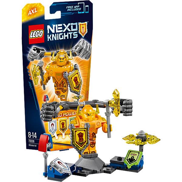 LEGO NEXO KNIGHTS 70336: Аксель- Абсолютная силаПластмассовые конструкторы<br>Аксель - Абсолютная сила всегда голоден, но теперь тяжеловесный рыцарь ещё и горит желанием добраться до Джестро и Лава-монстров. Для начала гигантскими кулаками проложи себе путь в самую гущу сражения! Нанеси врагам максимальный ущерб намагниченной булавой или порази их вращающимися лезвиями! <br><br>LEGO Nexo Knights ( ЛЕГО Нексо Найт) - это невероятный мир прогресса и новых технологий, в котором все же нашлось место для настоящих рыцарей, магии и волшебства. Удивительное сочетание футуризма и средневековой романтики увлекает и детей, и взрослых, а множество наборов серии и высокая детализация позволяют создать свой волшебный мир Nexo Knights!<br><br>Дополнительная информация:<br><br>- Конструкторы ЛЕГО развивают усидчивость, внимание, фантазию и мелкую моторику. <br>- Количество деталей: 69. <br>- 1 минифигурка, постамент, аксессуары. <br>- Серия ЛЕГО Нексо Найт (LEGO Nexo Knights).<br>- Материал: пластик.<br>- Размер упаковки: 24х5х14 см.<br>- Вес: 0.095 кг.<br><br>Конструктор LEGO Nexo Knights 70336: Аксель- Абсолютная сила можно купить в нашем магазине.<br>Ширина мм: 333; Глубина мм: 141; Высота мм: 51; Вес г: 96; Возраст от месяцев: 96; Возраст до месяцев: 168; Пол: Мужской; Возраст: Детский; SKU: 4641200;