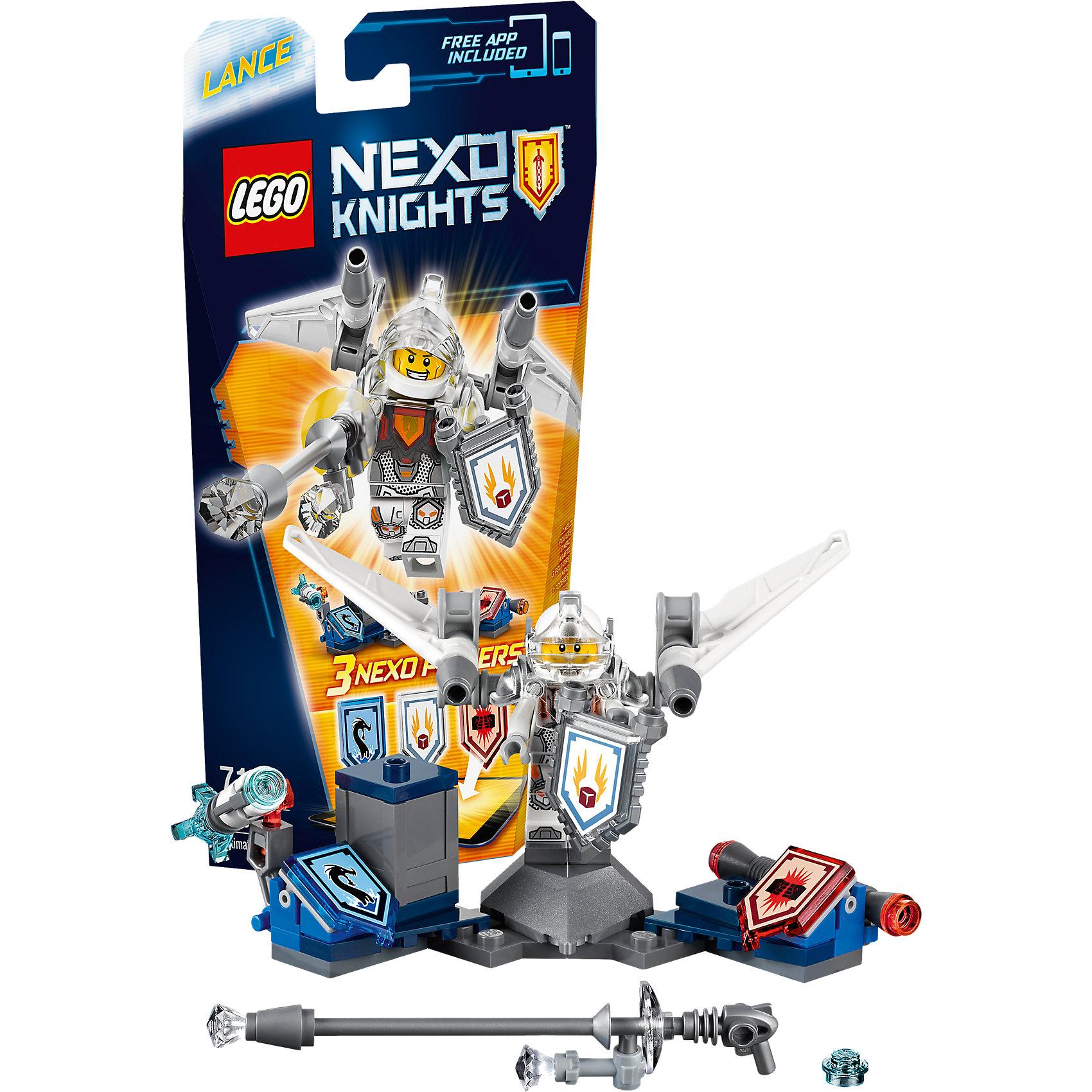 LEGO NEXO KNIGHTS 70337: Ланс - Абсолютная силаПластмассовые конструкторы<br>Ланс - знаменитый, очаровательный, бравый, а теперь и очень быстрый. Тот, кто вступает в схватку с этим блестящим рыцарем, нарывается на крупные неприятности, когда тот взлетает вверх с помощью реактивных ускорителей, установленных на его крыльях. <br><br>LEGO Nexo Knights ( ЛЕГО Нексо Найт) - это невероятный мир прогресса и новых технологий, в котором все же нашлось место для настоящих рыцарей, магии и волшебства. Удивительное сочетание футуризма и средневековой романтики увлекает и детей, и взрослых, а множество наборов серии и высокая детализация позволяют создать свой волшебный мир Nexo Knights!<br><br>Дополнительная информация:<br><br>- Конструкторы ЛЕГО развивают усидчивость, внимание, фантазию и мелкую моторику. <br>- Количество деталей: 69. <br>- 1 минифигурка, постамент, аксессуары. <br>- Серия ЛЕГО Нексо Найт (LEGO Nexo Knights).<br>- Материал: пластик.<br>- Размер упаковки: 24х5х14 см.<br>- Вес: 0.095 кг.<br><br>Конструктор LEGO Nexo Knights 70337: Ланс - Абсолютная сила можно купить в нашем магазине.<br><br>Ширина мм: 237<br>Глубина мм: 139<br>Высота мм: 51<br>Вес г: 94<br>Возраст от месяцев: 84<br>Возраст до месяцев: 168<br>Пол: Мужской<br>Возраст: Детский<br>SKU: 4641201
