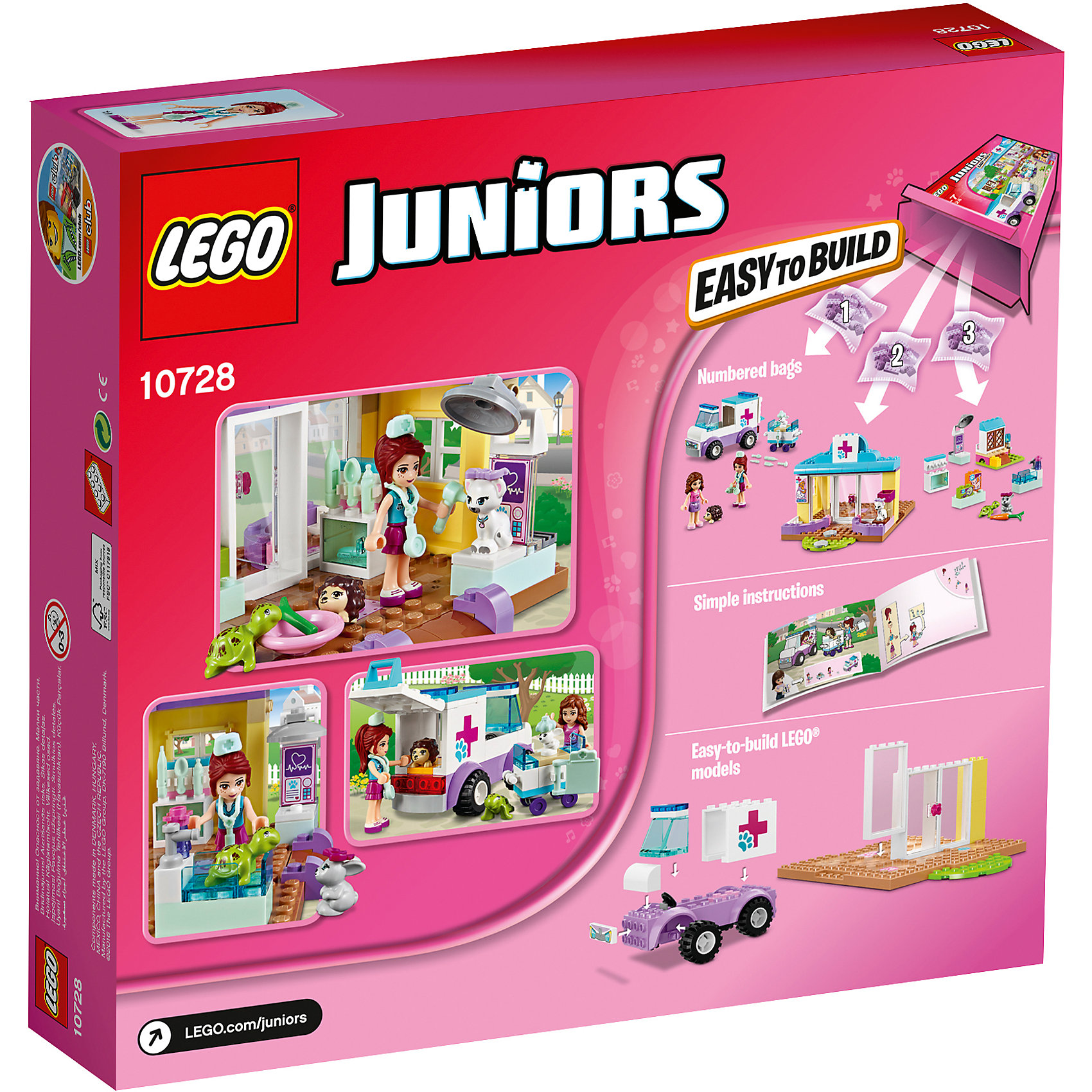LEGO Juniors 10728: Ветеринарная клиника Мии от myToys