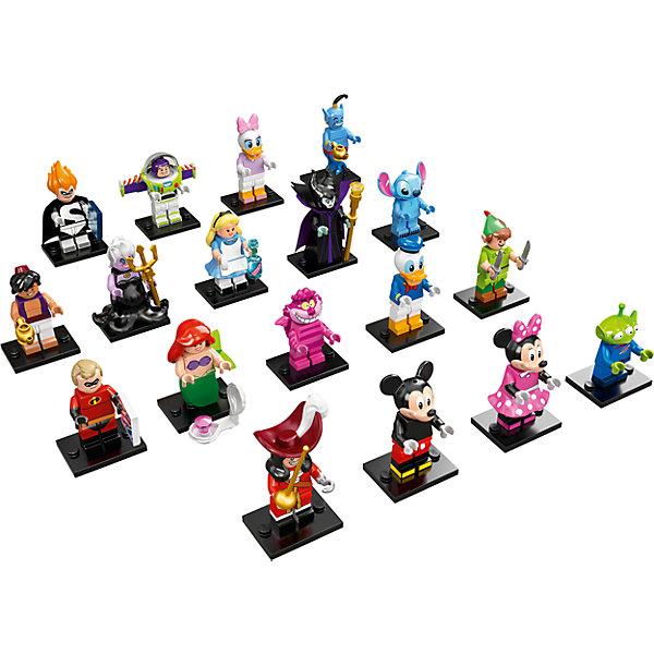 LEGO 71012: Минифигурки, серия ДиснейLEGO<br>Новая серия минифигурок от ЛЕГО порадует всех любителей и коллекционеров.<br><br>Дополнительная информация:<br><br>В комплекте одна минифигурка-героя мультфильмов компании Дисней.<br>ВНИМАНИЕ! Данный артикул представлен в разных вариантах исполнения. К сожалению, заранее выбрать определенный вариант невозможно. При заказе нескольких минифигурок возможно получение одинаковых.<br>Возможные варианты: Mickey Mouse (Мики Маус), Minnie Mouse (Минни Маус), Donald Duck (Дональд Дак), Daisy Duck (Дейзи), Ariel (Ариэль), Ursula (Урсула), Peter Pan (Питер Пен), Captain Hook (Капитан Крюк), Stitch, Alice (Алиса), Cheshire Cat (Чеширский Кот), Maleficent, Mr. Incredible, Syndrome, Aladdin, Genie, Buzz Lightyear, Pizza Planet,  Alien.<br><br>LEGO 71012: Минифигурки, серия Дисней (Disney) можно купить в нашем магазине.<br><br>Ширина мм: 113<br>Глубина мм: 88<br>Высота мм: 17<br>Вес г: 11<br>Возраст от месяцев: 60<br>Возраст до месяцев: 144<br>Пол: Унисекс<br>Возраст: Детский<br>SKU: 4641214