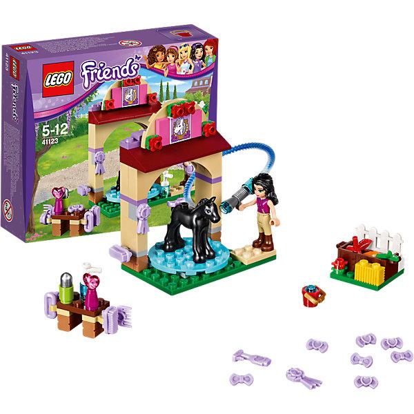 LEGO Friends 41123: Салон для жеребятПластмассовые конструкторы<br>Игры с конструктором обожает множество современных девочек, поэтому набор Лего, из которого можно собрать разные сюжеты про героев и её приключения, обязательно порадует ребенка. Такие игрушки помогают детям развивать воображение, мелкую моторику, логику и творческое мышление.<br>Набор состоит из множества деталей, с помощью которых можно  собрать декорации для игр, а также в нем есть фигурки любимых персонажей! С таким комплектом можно придумать множество игр!<br><br>Дополнительная информация:<br><br>цвет: разноцветный;<br>размер коробки: 17 x 14 x 4 см;<br>вес: 170 г;<br>материал: пластик;<br>количество деталей: 77.<br><br>Набор Салон для жеребят от бренда LEGO Friends можно купить в нашем магазине.<br><br>Ширина мм: 160<br>Глубина мм: 142<br>Высота мм: 48<br>Вес г: 130<br>Возраст от месяцев: 60<br>Возраст до месяцев: 144<br>Пол: Женский<br>Возраст: Детский<br>SKU: 4641215