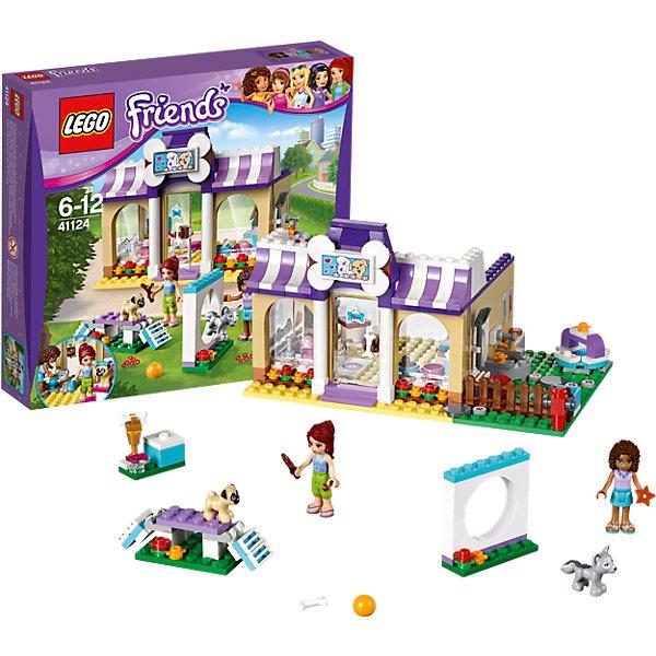 LEGO Friends 41124: Детский сад для щенковКонструкторы Лего<br>Конструкторы из серии LEGO Friends полюбились многим современным девочкам, поэтому набор Лего, из которого можно собрать разные сюжеты про героев и её приключения, обязательно порадует ребенка. Такие игрушки помогают детям развивать воображение, мелкую моторику, логику и творческое мышление.<br>Набор состоит из множества деталей, с помощью которых можно  собрать декорации для игр, а также в нем есть фигурки любимых персонажей! С таким комплектом можно придумать множество игр!<br><br>Дополнительная информация:<br><br>цвет: разноцветный;<br>размер коробки: 28 x 28 x 5 см;<br>вес: 500 г;<br>материал: пластик;<br>количество деталей: 286.<br><br>Набор Детский сад для щенков от бренда LEGO Friends можно купить в нашем магазине.<br><br>Ширина мм: 265<br>Глубина мм: 281<br>Высота мм: 66<br>Вес г: 495<br>Возраст от месяцев: 72<br>Возраст до месяцев: 144<br>Пол: Женский<br>Возраст: Детский<br>SKU: 4641216