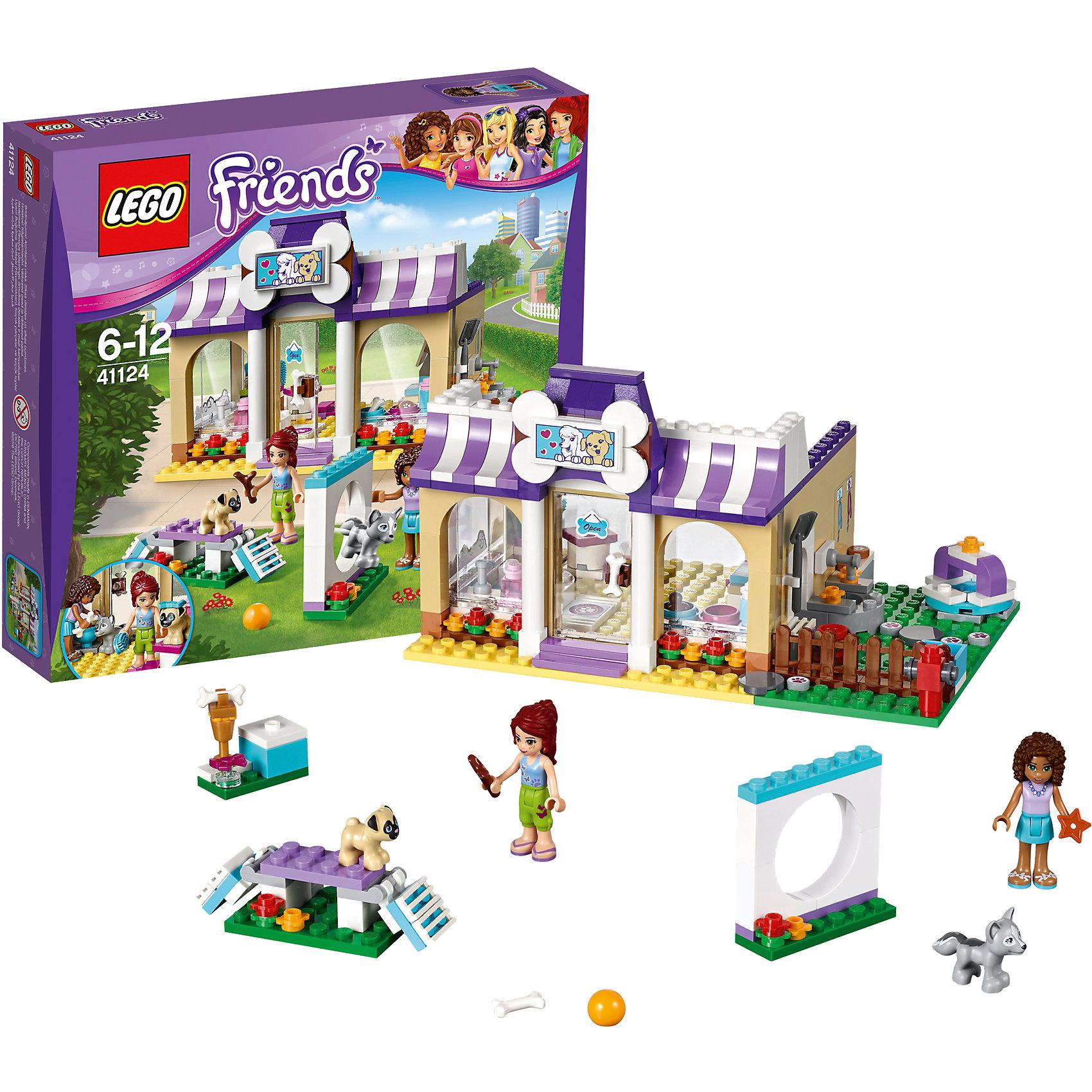 LEGO Friends 41124: Детский сад для щенковКонструкторы из серии LEGO Friends полюбились многим современным девочкам, поэтому набор Лего, из которого можно собрать разные сюжеты про героев и её приключения, обязательно порадует ребенка. Такие игрушки помогают детям развивать воображение, мелкую моторику, логику и творческое мышление.<br>Набор состоит из множества деталей, с помощью которых можно  собрать декорации для игр, а также в нем есть фигурки любимых персонажей! С таким комплектом можно придумать множество игр!<br><br>Дополнительная информация:<br><br>цвет: разноцветный;<br>размер коробки: 28 x 28 x 5 см;<br>вес: 500 г;<br>материал: пластик;<br>количество деталей: 286.<br><br>Набор Детский сад для щенков от бренда LEGO Friends можно купить в нашем магазине.<br><br>Ширина мм: 281<br>Глубина мм: 261<br>Высота мм: 60<br>Вес г: 498<br>Возраст от месяцев: 72<br>Возраст до месяцев: 144<br>Пол: Женский<br>Возраст: Детский<br>SKU: 4641216