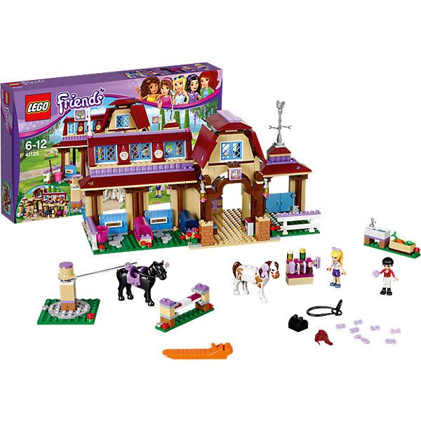 LEGO Friends 41126: Клуб верховой ездыПластмассовые конструкторы<br>Конструкторы из серии LEGO Friends полюбились многим современным девочкам, поэтому набор Лего, из которого можно собрать разные сюжеты про героев и её приключения, обязательно порадует ребенка. Такие игрушки помогают детям развивать воображение, мелкую моторику, логику и творческое мышление.<br>Набор состоит из множества деталей, с помощью которых можно  собрать декорации для игр, а также в нем есть фигурки любимых персонажей! С таким комплектом можно придумать множество игр!<br><br>Дополнительная информация:<br><br>цвет: разноцветный;<br>размер коробки: 7 x 47 x 28 см;<br>вес: 3000 г;<br>материал: пластик;<br>количество деталей: 575.<br><br>Набор Клуб верховой езды от бренда LEGO Friends можно купить в нашем магазине.<br><br>Ширина мм: 474<br>Глубина мм: 281<br>Высота мм: 83<br>Вес г: 1179<br>Возраст от месяцев: 72<br>Возраст до месяцев: 144<br>Пол: Женский<br>Возраст: Детский<br>SKU: 4641218