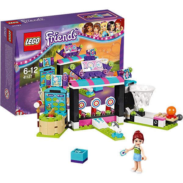 LEGO Friends 41127: Парк развлечений: игровые автоматыПластмассовые конструкторы<br>Игры с конструктором обожает множество современных девочек, поэтому набор Лего, из которого можно собрать разные сюжеты про героев и её приключения, обязательно порадует ребенка. Такие игрушки помогают детям развивать воображение, мелкую моторику, логику и творческое мышление.<br>Набор состоит из множества деталей, с помощью которых можно  собрать декорации для игр, а также в нем есть фигурки любимых персонажей! С таким комплектом можно придумать множество игр!<br><br>Дополнительная информация:<br><br>цвет: разноцветный;<br>размер коробки: 19 х 6 х 14 см;<br>вес: 195 г;<br>материал: пластик;<br>количество деталей: 174.<br><br>Набор Парк развлечений: игровые автоматы от бренда LEGO Friends можно купить в нашем магазине.<br><br>Ширина мм: 193<br>Глубина мм: 139<br>Высота мм: 67<br>Вес г: 188<br>Возраст от месяцев: 72<br>Возраст до месяцев: 144<br>Пол: Женский<br>Возраст: Детский<br>SKU: 4641219