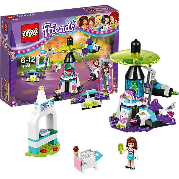 LEGO Friends 41128: Парк развлечений: «Космическое путешествие»Пластмассовые конструкторы<br>Конструкторы из серии LEGO Friends полюбились многим современным девочкам, поэтому набор Лего, из которого можно собрать разные сюжеты про героев и её приключения, обязательно порадует ребенка. Такие игрушки помогают детям развивать воображение, мелкую моторику, логику и творческое мышление.<br>Набор состоит из множества деталей, с помощью которых можно  собрать декорации для игр, а также в нем есть фигурки любимых персонажей! С таким комплектом можно придумать множество игр!<br><br>Дополнительная информация:<br><br>цвет: разноцветный;<br>размер коробки: 5 x 25 x 20 см;<br>вес: 100 г;<br>материал: пластик;<br>количество деталей: 195.<br><br>Набор Парк развлечений: «Космическое путешествие от бренда LEGO Friends можно купить в нашем магазине.<br><br>Ширина мм: 265<br>Глубина мм: 187<br>Высота мм: 60<br>Вес г: 306<br>Возраст от месяцев: 72<br>Возраст до месяцев: 144<br>Пол: Женский<br>Возраст: Детский<br>SKU: 4641220