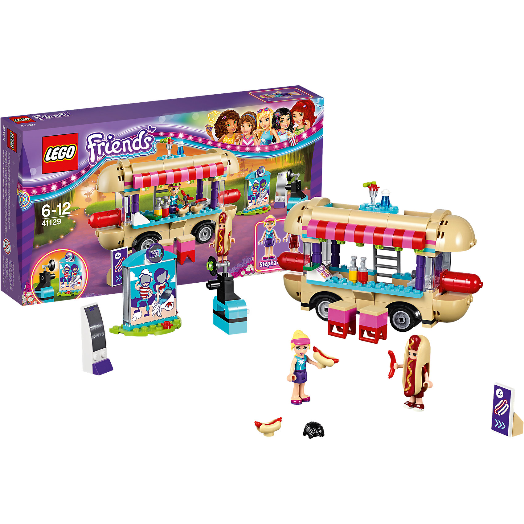 LEGO LEGO Friends 41129: Парк развлечений: фургон с хот-догами lego friends 41129 парк развлечений фургон с хот догами