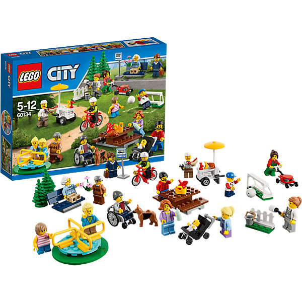 LEGO City 60134: Праздник в паркеLEGO<br>В парке сегодня шумный праздник, скорее присоединяйся и повеселись от души! Покатайся на карусели, попробуй вкусные горячие хот-доги, поиграй в футбол и пообщайся с друзьями! <br><br>LEGO City (ЛЕГО Сити) - серия детских конструкторов ЛЕГО, с помощью которого ваш ребенок может погрузиться в мир мегаполиса. Эта серия поможет ребенку понять, как устроена жизнь города, какие функции выполняют те или иные люди и техника. Предлагает на выбор огромное множество профессий, сфер деятельности и ситуаций, связанных с ними.<br><br>Дополнительная информация:<br><br>- Конструкторы ЛЕГО развивают усидчивость, внимание, фантазию и мелкую моторику. <br>- 15 минифигурок.<br>- Количество деталей: 157. <br>- Комплектация: 15 минифигурок, тележка с хот-догами, скамейка, карусель, футбольное поле, стол со стульями, аксессуары. <br>- Серия ЛЕГО Сити (LEGO City).<br>- Материал: пластик.<br>- Размер упаковки: 26,2х19,1х4,6 см.<br>- Вес: 0,25 кг.<br><br>Конструктор LEGO City 60134: Праздник в парке можно купить в нашем магазине.<br><br>Ширина мм: 265<br>Глубина мм: 187<br>Высота мм: 51<br>Вес г: 252<br>Возраст от месяцев: 60<br>Возраст до месяцев: 144<br>Пол: Мужской<br>Возраст: Детский<br>SKU: 4641225