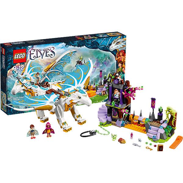 LEGO Elves 41179: Спасение Королевы ДраконовПластмассовые конструкторы<br>Кто не любит волшебных эльфов? Конструкторы из серии LEGO Elves полюбились многим современным детям, поэтому набор Лего, из которого можно собрать разные сюжеты про героев и её приключения, обязательно порадует ребенка. Такие игрушки помогают детям развивать воображение, мелкую моторику, логику и творческое мышление.<br>Набор состоит из множества деталей, с помощью которых можно  собрать декорации для игр, а также в нем есть фигурки любимых персонажей! С таким комплектом можно придумать множество игр!<br><br>Дополнительная информация:<br><br>цвет: разноцветный;<br>размер коробки: 54 х 8 х 28см;<br>вес: 1051 г;<br>материал: пластик;<br>количество деталей: 833.<br><br>Набор Спасение Королевы Драконов от бренда LEGO Elves можно купить в нашем магазине.<br><br>Ширина мм: 533<br>Глубина мм: 278<br>Высота мм: 79<br>Вес г: 1168<br>Возраст от месяцев: 108<br>Возраст до месяцев: 144<br>Пол: Женский<br>Возраст: Детский<br>SKU: 4641233