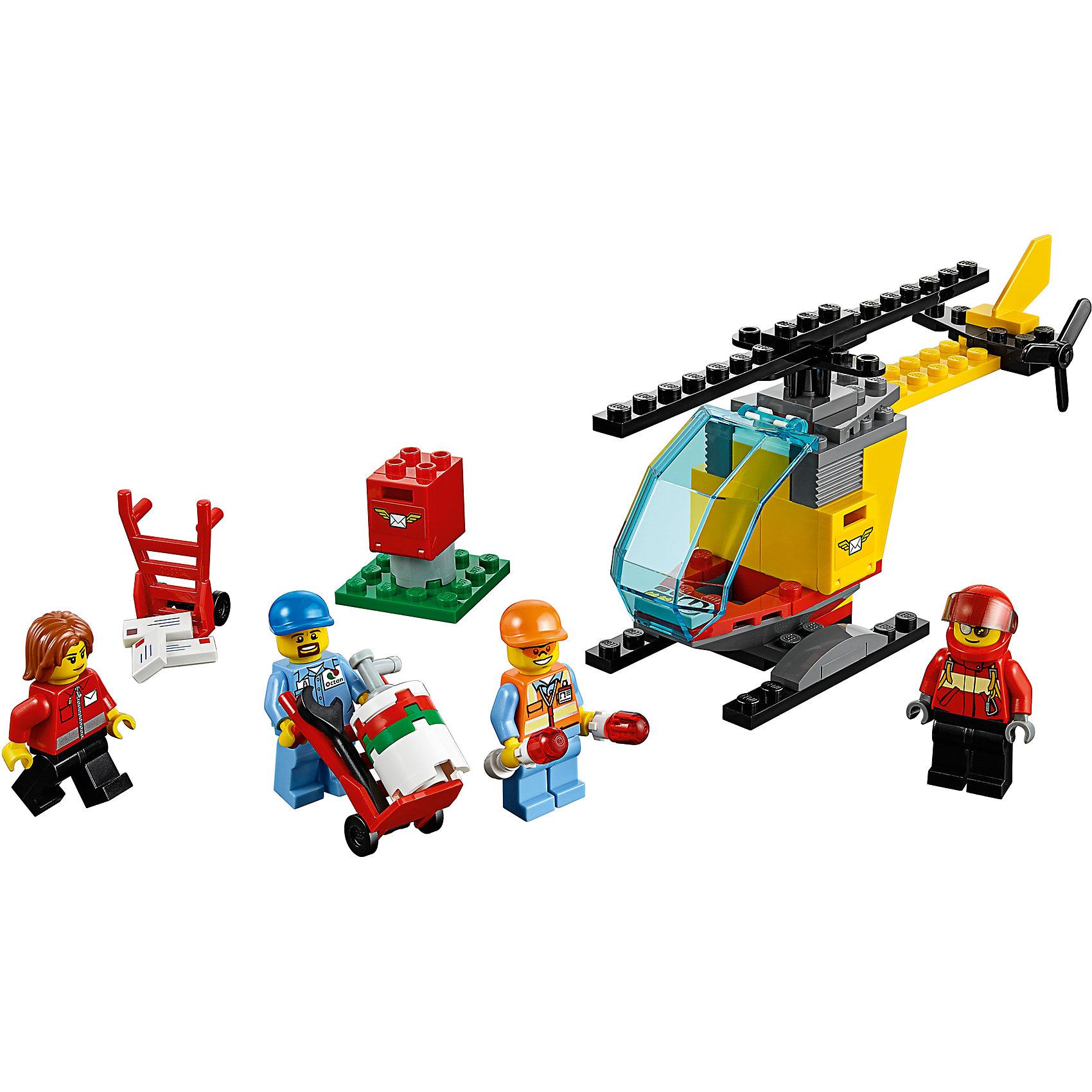 LEGO City 60100: Набор для начинающих «Аэропорт»LEGO<br>Помоги доставить почту жителям Города Лего вместе с набором Lego City! Заправь полный бак вертолета горючим, затем загрузи с тележек посылки и письма и помоги пилоту забраться в кабину. Отправь вертолет на взлетную полосу и - вперед, взлетай! Рабочий с направляющими огнями в руках поможет тебе в этом.<br><br>LEGO City (ЛЕГО Сити) - серия детских конструкторов ЛЕГО, с помощью которого ваш ребенок может погрузиться в мир мегаполиса. Эта серия поможет ребенку понять, как устроена жизнь города, какие функции выполняют те или иные люди и техника. Предлагает на выбор огромное множество профессий, сфер деятельности и ситуаций, связанных с ними.<br><br>Дополнительная информация:<br><br>- Конструкторы ЛЕГО развивают усидчивость, внимание, фантазию и мелкую моторику. <br>- 4 минифигурки.<br>- Количество деталей: 81. <br>- Комплектация: 4 мини-фигурки рабочих, вертолет с открытой кабиной (винты и лопасти вращаются), аксессуары.<br>- Серия ЛЕГО Сити (LEGO City).<br>- Материал: пластик.<br>- Размер упаковки: 14х6х16 см.<br>- Вес: 0.14 кг.<br><br>Конструктор LEGO City 60100: Набор для начинающих «Аэропорт» можно купить в нашем магазине.<br><br>Ширина мм: 160<br>Глубина мм: 139<br>Высота мм: 60<br>Вес г: 142<br>Возраст от месяцев: 60<br>Возраст до месяцев: 144<br>Пол: Мужской<br>Возраст: Детский<br>SKU: 4641235