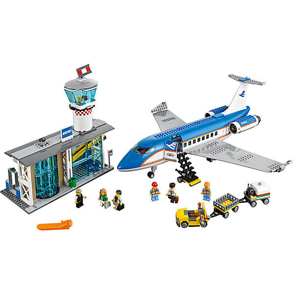 LEGO City 60104: Пассажирский терминал аэропортаLEGO<br>Хочешь совершить путешествие на самолете? Скорее входи в прозрачные вращающиеся двери, регистрируйся на рейс, сдавай чемоданы в багаж, немного подожди в зоне ожидания, а потом проходи на посадку. Хорошего полета! <br><br>LEGO City (ЛЕГО Сити) - серия детских конструкторов ЛЕГО, с помощью которого ваш ребенок может погрузиться в мир мегаполиса. Эта серия поможет ребенку понять, как устроена жизнь города, какие функции выполняют те или иные люди и техника. Предлагает на выбор огромное множество профессий, сфер деятельности и ситуаций, связанных с ними.<br><br>Дополнительная информация:<br><br>- Конструкторы ЛЕГО развивают усидчивость, внимание, фантазию и мелкую моторику. <br>- 6 минифигурок.<br>- Количество деталей: 694. <br>- Комплектация: 6 минифигурок, самолет, вход в аэропорт, служебный автомобиль для перевозки багажа, аксессуары.<br>- Серия ЛЕГО Сити (LEGO City).<br>- Материал: пластик.<br>- Размер упаковки: 48x37,8x9,4 см.<br>- Вес: 2,11 кг.<br><br>Конструктор LEGO City 60104: Пассажирский терминал аэропорта можно купить в нашем магазине.<br><br>Ширина мм: 481<br>Глубина мм: 378<br>Высота мм: 94<br>Вес г: 1900<br>Возраст от месяцев: 72<br>Возраст до месяцев: 144<br>Пол: Мужской<br>Возраст: Детский<br>SKU: 4641239