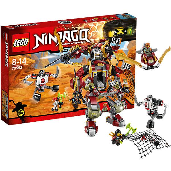 LEGO NINJAGO 70592: Робот-спасательПластмассовые конструкторы<br>Конструкторы и приключения обожает множество современных мальчишек, поэтому набор Лего, из которого можно собрать интересный сюжет, обязательно порадует ребенка. Такие игрушки помогают детям развивать воображение, мелкую моторику, логику и творческое мышление.<br>Набор состоит из множества деталей, с помощью которых можно  собрать декорации для игр, а также в нем есть фигурки любимых персонажей! С таким комплектом можно придумать множество игр!<br><br>Дополнительная информация:<br><br>цвет: разноцветный;<br>размер коробки: 38 х 6 х 26 см;<br>вес: 568 г;<br>материал: пластик;<br>количество деталей: 439.<br><br>Набор Робот-спасатель от бренда LEGO NINJAGO можно купить в нашем магазине.<br><br>Ширина мм: 385<br>Глубина мм: 261<br>Высота мм: 63<br>Вес г: 574<br>Возраст от месяцев: 96<br>Возраст до месяцев: 168<br>Пол: Мужской<br>Возраст: Детский<br>SKU: 4641243