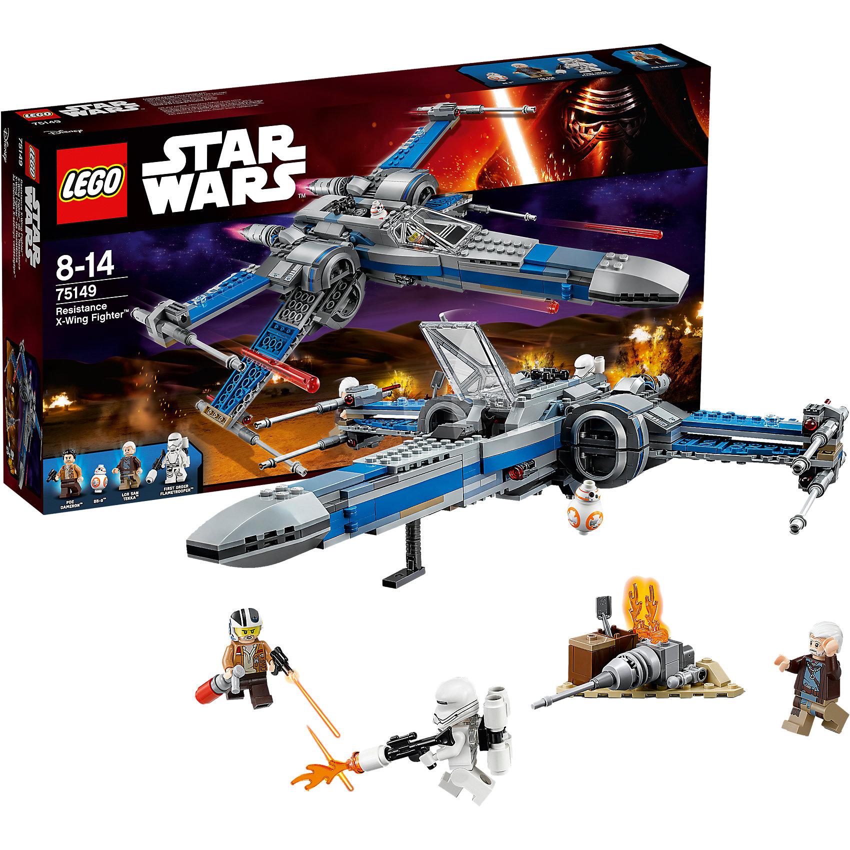 LEGO Star Wars 75149: Истребитель Сопротивления типа ИксПластмассовые конструкторы<br>Фильм Звездные войны и его героев любят множество современных мальчишек, поэтому набор Лего Star Wars, из которого можно собрать интересный сюжет по этому фильму, обязательно порадует ребенка. Такие игрушки помогают детям развивать воображение, мелкую моторику, логику и творческое мышление.<br>Набор состоит из множества деталей конструктора - с их помощью можно собрать декорации для игр, транспорт, а также в нем есть фигурки любимых персонажей! С таким комплектом можно придумать множество игр!<br><br>Дополнительная информация:<br><br>цвет: разноцветный;<br>размер коробки: 54 х 8 х 28 см;<br>вес: 1047 г;<br>материал: пластик;<br>количество деталей: 740.<br><br>Набор Истребитель Сопротивления типа Икс от бренда LEGO Star Wars можно купить в нашем магазине.<br><br>Ширина мм: 541<br>Глубина мм: 281<br>Высота мм: 78<br>Вес г: 1075<br>Возраст от месяцев: 96<br>Возраст до месяцев: 168<br>Пол: Мужской<br>Возраст: Детский<br>SKU: 4641249