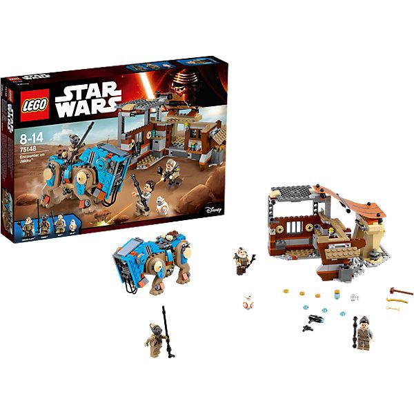 LEGO Star Wars 75148: Столкновение на ДжаккуПластмассовые конструкторы<br>Фильм Звездные войны и его героев любят множество современных мальчишек, поэтому набор Лего Star Wars, из которого можно собрать интересный сюжет по этому фильму, обязательно порадует ребенка. Такие игрушки помогают детям развивать воображение, мелкую моторику, логику и творческое мышление.<br>Набор состоит из множества деталей конструктора - с их помощью можно собрать декорации для игр, транспорт, а также в нем есть фигурки любимых персонажей! С таким комплектом можно придумать множество игр!<br><br>Дополнительная информация:<br><br>цвет: разноцветный;<br>размер коробки: 38 х 6 х 26 см;<br>вес: 633 г;<br>материал: пластик;<br>количество деталей: 530.<br><br>Набор Столкновение на Джакку от бренда LEGO Star Wars можно купить в нашем магазине.<br>Ширина мм: 385; Глубина мм: 263; Высота мм: 63; Вес г: 690; Возраст от месяцев: 96; Возраст до месяцев: 168; Пол: Мужской; Возраст: Детский; SKU: 4641251;