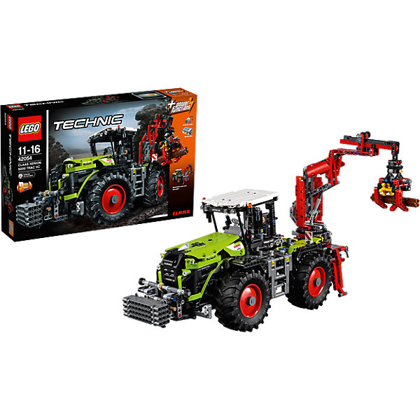 LEGO Technic 42054: Трактор CLAAS XERION 5000Пластмассовые конструкторы<br>Характеристики:<br><br>• Предназначение: набор для конструирования, сюжетно-ролевые игры<br>• Пол: для мальчиков<br>• Материал: пластик<br>• Цвет: черный, серый, бордовый, зеленый<br>• Серия LEGO: Technic<br>• Размер упаковки (Д*Ш*В): 50*10*45 см<br>• Вес: 2 кг 855 г<br>• Количество деталей: 1977 шт.<br>• Наличие двигающихся, вращающихся и открывающихся элементов<br>• Наличие мотора<br>• Комплектация: детали для конструирования 2-х моделей трактора<br>• Батарейки: 6 шт. типа АА (в комплекте не предусмотрены)<br><br>LEGO Technic 42054: Трактор CLAAS XERION 5000 – набор от всемирно известного производителя конструкторов для детей всех возрастных категорий. LEGO Technic 42054: Трактор CLAAS XERION 5000 является базовым набором повышенной сложности серии Technic. Элементы конструктора позволяют сконструировать 2 модели трактора для строительных или сельско-хозяйственных работ. Разнообразие элементов позволят воссоздавать юному конструктору все реалистичные элементы и функции грузового транспорта: поворачиваемая кабина, управляемый кран, выносные опоры и др. В комплекте предусмотрена яркая инструкция, которая научит вашего ребенка действовать по образцу. <br>Игры с конструкторами LEGO развивают усидчивость, внимательность, мелкую моторику рук, способствуют формированию конструкторского мышления. С набором LEGO Technic 42054: Трактор CLAAS XERION 5000 ваш ребенок сможет придумывать целые сюжетные истории, развивая тем самым воображение и обогащая свой словарный запас. <br><br>LEGO Technic 42054: Трактор CLAAS XERION 5000 можно купить в нашем интернет-магазине.<br><br>Ширина мм: 583<br>Глубина мм: 372<br>Высота мм: 112<br>Вес г: 2862<br>Возраст от месяцев: 132<br>Возраст до месяцев: 192<br>Пол: Мужской<br>Возраст: Детский<br>SKU: 4641255