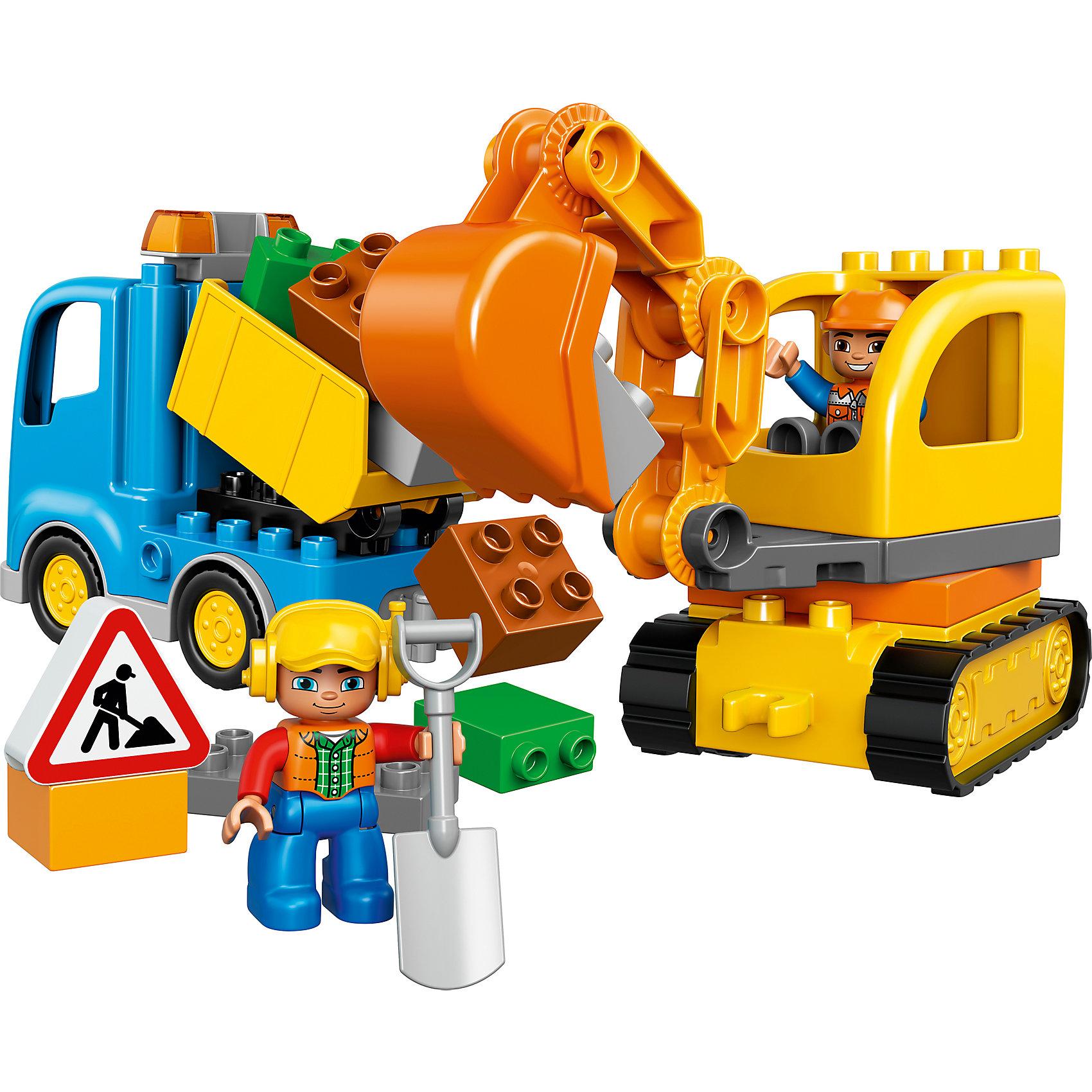LEGO DUPLO 10812: Грузовик и гусеничный экскаватор от myToys