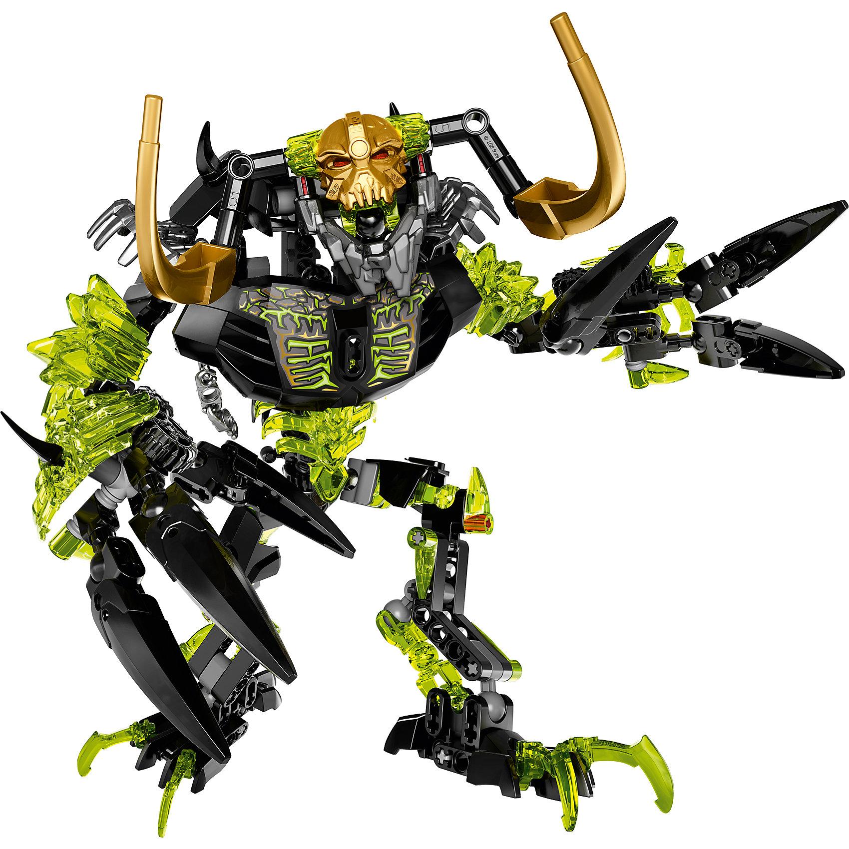 LEGO BIONICLE 71316: Умарак-РазрушительЗахваченный Маской контроля, Умарак-разрушитель теперь призывает стихийных монстров на борьбу с героями LEGO Bionicle. Обнажи когти, чтобы схватить врагов и сокрушить их! Эти древние существа будут уничтожать и разрушать всё на своём пути!<br><br>LEGO Bionicle (Лего Биониклы) - это нереальный фантастический мир, со своими правилами, приключениями и традициями! Герои сражаются с мутантами Барраками, с многотысячной армией механических созданий Бороков, и самыми опасными и беспощадными убийцами Пираками. Отправляйся на встречу с приключениями и подвигами вместе с легендарными LEGO Bionicle!<br><br>Дополнительная информация:<br><br>- Конструкторы ЛЕГО развивают усидчивость, внимание, фантазию и мелкую моторику. <br>- Количество деталей: 191. <br>- Подвижные конечности.<br>- Серия ЛЕГО Биониклы (LEGO Bionicle).<br>- Материал: пластик.<br>- Размер упаковки: 23,6х5,6х25 см.<br>- Вес: 0.395 кг.<br><br>Конструктор LEGO Bionicle 71316: Умарак-Разрушитель можно купить в нашем магазине.<br><br>Ширина мм: 254<br>Глубина мм: 238<br>Высота мм: 60<br>Вес г: 392<br>Возраст от месяцев: 96<br>Возраст до месяцев: 168<br>Пол: Мужской<br>Возраст: Детский<br>SKU: 4641267