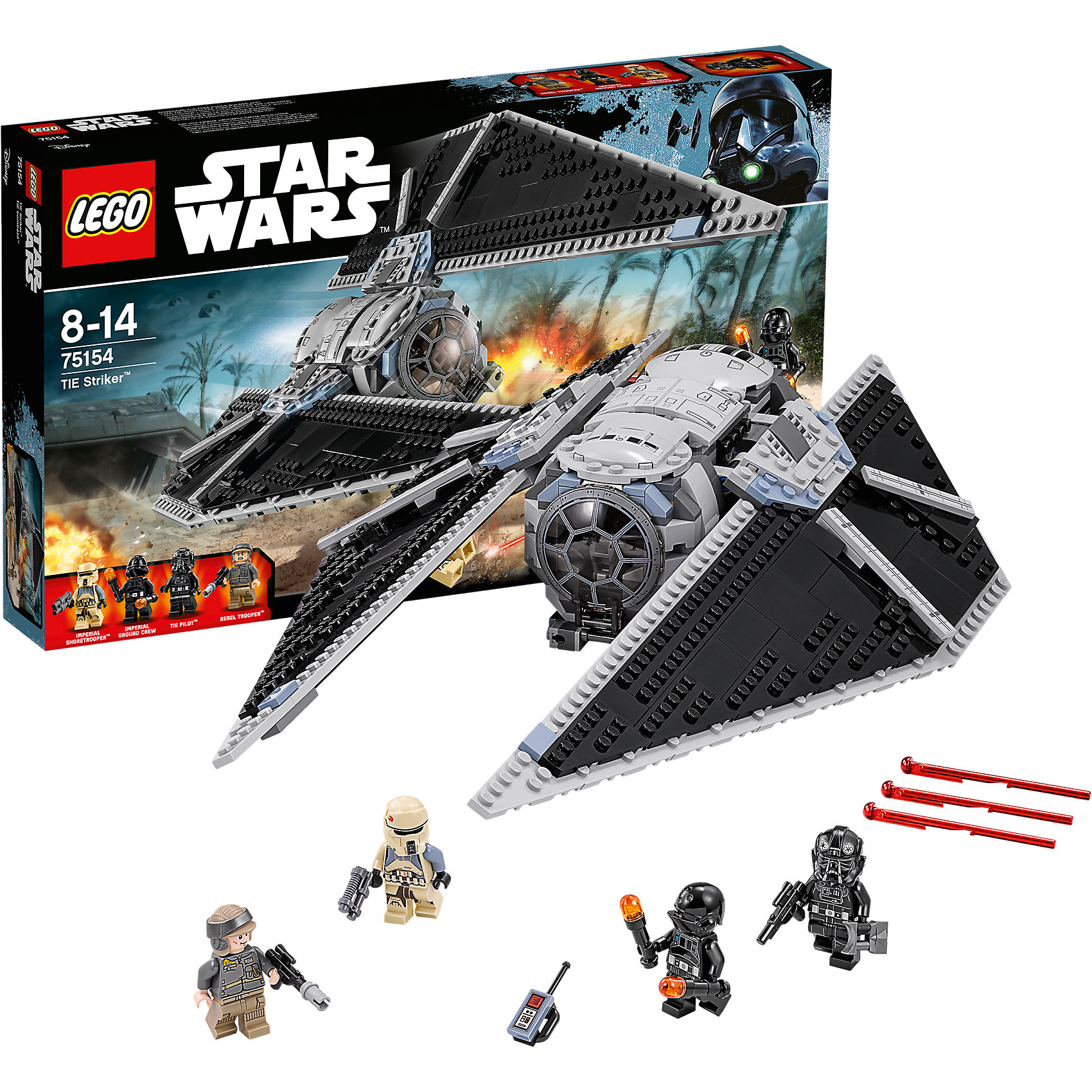 LEGO LEGO Star Wars 75154: Ударный истребитель TIE new lepin 05048 star classic model wars 543pcs the tie striker building blocks bricks toys compatible with 75154 children gift