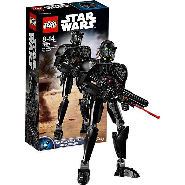 LEGO Star Wars 75121: Имперский штурмовик смертиПластмассовые конструкторы<br>Играть с любимыми персонажами всегда интереснее! Фильм Звездные войны обожают современные дети. Подарите им возможность играть с героями из любимого фильма, воссоздавая боевые сцены из кино или придумывая свои! Эти фигурки подвижны, состоят из деталей, поэтому детям с ними играть очень интересно. <br>Одна игрушка - только часть большой коллекции LEGO Star Wars, поэтому детям будет интересно еще и коллекционировать разные фигурки и наборы. Такие игрушки помогают ребенку развивать мелкую моторику, воображение и творческое мышление! Материалы, использованные при изготовлении игрушек, полностью безопасны для детей и отвечают всем требованиям по качеству.<br><br>Дополнительная информация:<br><br>цвет: разноцветный;<br>материал: пластик;<br>деталей: 169.<br><br>LEGO Star Wars 75121: Имперский штурмовик смерти можно приобрести в нашем магазине.<br><br>Ширина мм: 264<br>Глубина мм: 142<br>Высота мм: 63<br>Вес г: 260<br>Возраст от месяцев: 96<br>Возраст до месяцев: 168<br>Пол: Мужской<br>Возраст: Детский<br>SKU: 4641278