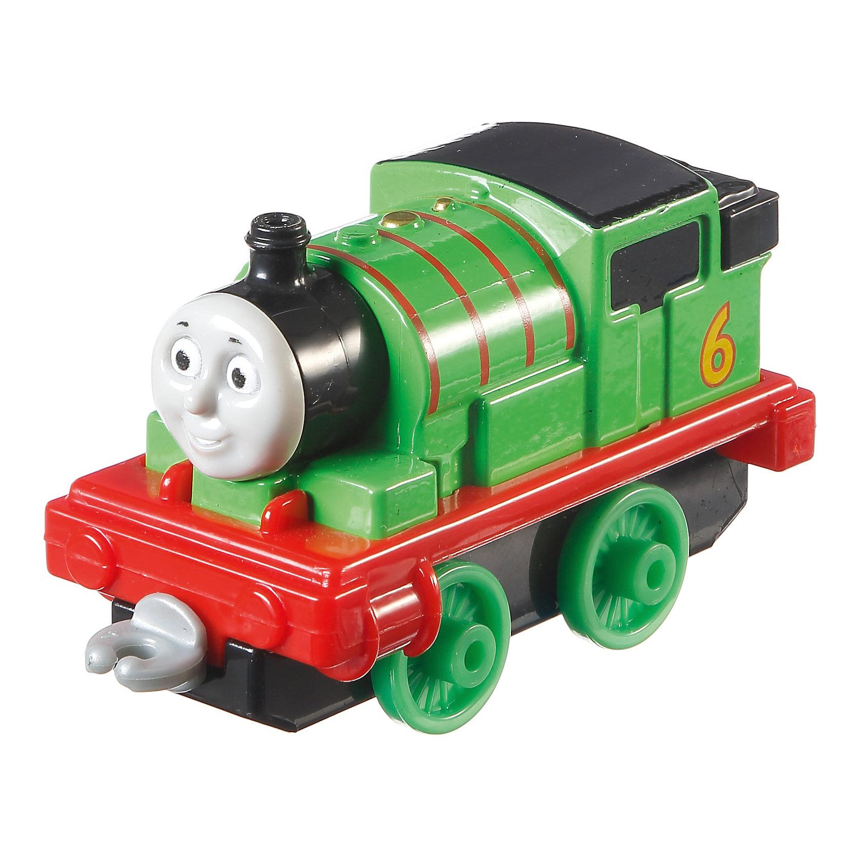 Паровозик Перси Fisher Price, Томас и его друзьяПопулярные игрушки<br>Характеристики:<br><br>• Вид игр: сюжетно-ролевые игры, для коллекционирования<br>• Пол: универсальный<br>• Материал: металл, пластик<br>• Цвет: зеленый, красный, черный<br>• Длина паровозика: 7,5 см<br>• Размер (Д*Ш*В): 13*3,5*11,5 см<br>• Вес: 100 г<br>• Наличие крепления для других вагончиков<br>• Наличие вращающихся колес<br>• Серия: Collectible Railway<br><br>Паровозик Перси, Fisher Price, Томас и его друзья – это паровозик от Mattel серии Collectible Railway. Выполненная по мотивам популярного среди детей мультсериала о друзьях - паровозиках игрушка отличается высокой степенью детализации и соответствия своему экранному прототипу. Корпус паровозика металлический с элементами из пластика повышенной прочности. У игрушки имеются крепления, к которым можно присоединять другие паровозики или вагончики. Коллекция паровозиков от Fisher Price, Томас и его друзья доставит много радости маленькому любителю сериала Томас и его друзья, а сюжетно-ролевые игры с паровозиками будут способствовать развитию воображения, фантазии, увеличат словарный запас вашего ребенка и расширят его кругозор!<br><br>Паровозик Перси, Fisher Price, Томас и его друзья можно купить в нашем интернет-магазине.<br><br>Ширина мм: 115<br>Глубина мм: 130<br>Высота мм: 35<br>Вес г: 71<br>Возраст от месяцев: 36<br>Возраст до месяцев: 72<br>Пол: Мужской<br>Возраст: Детский<br>SKU: 4641283