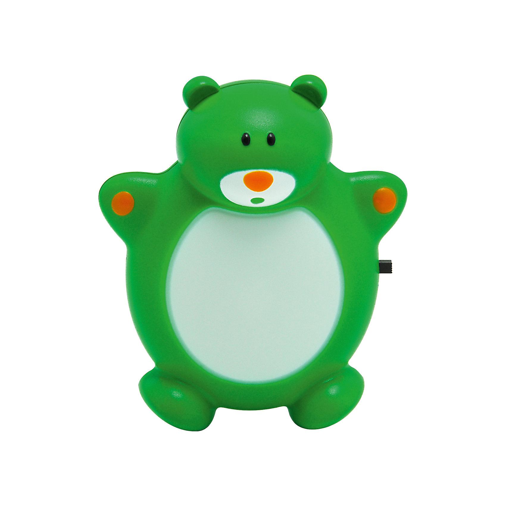 Ultra Light Ночник Медведь Зоо LED 0.5Вт, Ultra Light, зелёный светильник ночник kt002a зелёный