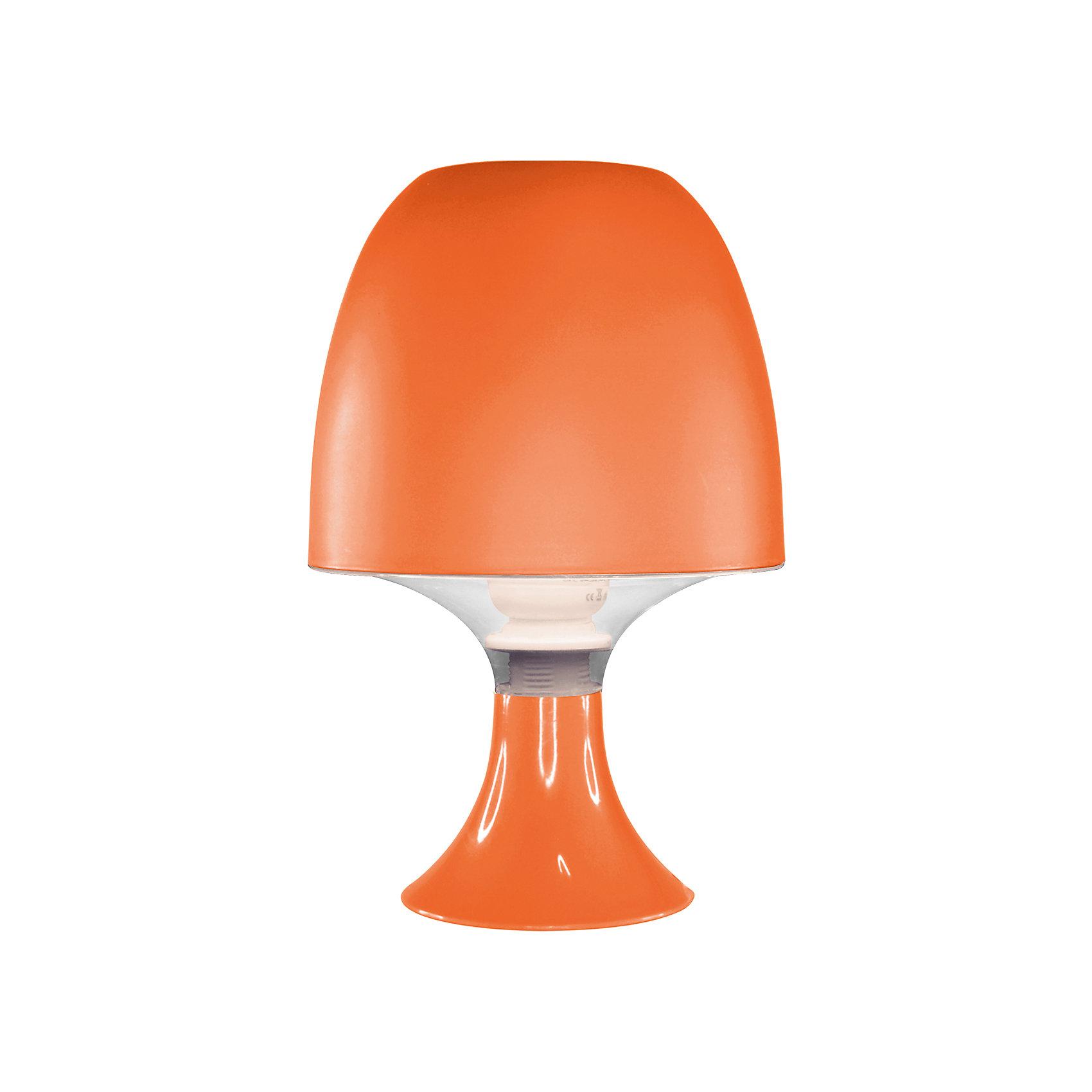 Ultra Light Настольный ночник КЛЛ 15Вт, Ultra Light, оранжевый ultra light ночник медведь зоо led 0 5вт ultra light зелёный