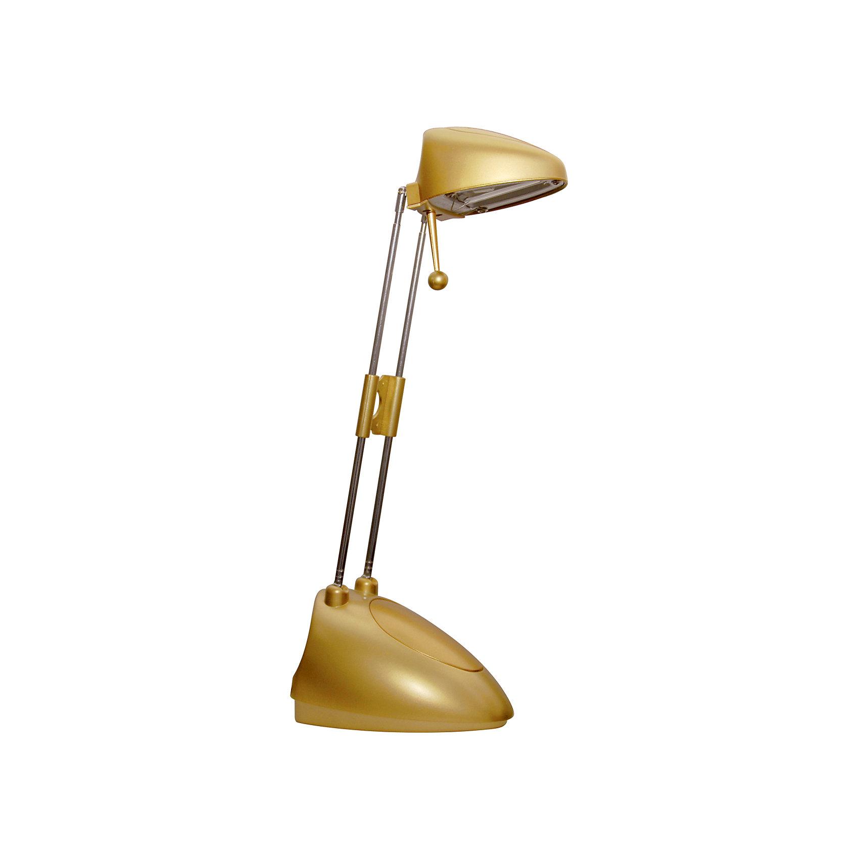 Золотой светильник, 15 ВтЛампы, ночники, фонарики<br>Золотой светильник, 15 Вт – светильник с галогеновой лампой обеспечит яркий световой поток, прекрасно подойдет для освещения рабочего стола.<br>Светильник с галогенной лампой выполнен из термостойких материалов и характеризуется повышенной энергоэкономичностью. Он предназначен для освещения рабочего пространства на письменном столе, создания комфортных условий на рабочем месте. Легкая подвижная конструкция обеспечивает создание светового и теплового комфорта. Конструктивная особенность — раздвижная стойка и ручка поворота позволяют установить светильник в удобное положение для оптимального освещения рабочей поверхности.<br><br>Дополнительная информация:<br><br>- Материал: металл<br>- Цвет: золото<br>- Источник света: ГЛН GY6.35<br>- Мощность лампы: 35 Вт<br>- Напряжение: 220В<br>- Напряжение в светильнике: 12В<br>- Размер светильника: 14,5 х 9,8 х 50 см.<br>- Размер упаковки: 11,5 х 11 х 22 см.<br>- Вес: 680 гр.<br>- ВНИМАНИЕ! Нельзя касаться руками и металлическими предметами колбы галогенной лампы<br><br>Золотой светильник, 15 Вт можно купить в нашем интернет-магазине.<br><br>Ширина мм: 115<br>Глубина мм: 220<br>Высота мм: 110<br>Вес г: 680<br>Возраст от месяцев: 36<br>Возраст до месяцев: 192<br>Пол: Унисекс<br>Возраст: Детский<br>SKU: 4641456