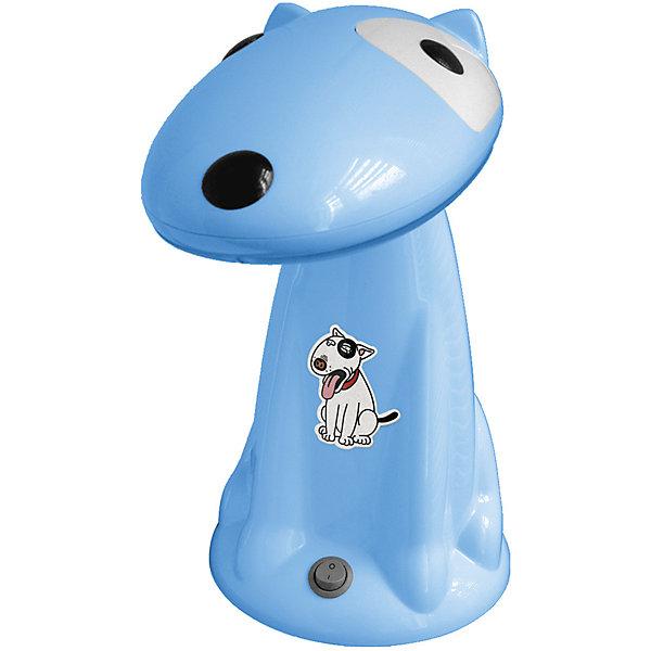 Настольный светильник Собака 18Вт КЛЛ, Ultra Light, голубойДетские предметы интерьера<br>Голубой светильник Собака 18 Вт – детский светильник прекрасно подойдет для освещения рабочего стола и создания атмосферы уюта в комнате.<br>Светильник в виде прелестной собачки с энергосберегающей лампой доставит малышу множество приятных моментов в любое время суток! Он не только станет отличным другом, но и поможет ребенку в вечерние часы сделать уроки или почитать книгу. Ночью собачка послужит ночником и создаст в комнате уютную атмосферу, помогая малышу быстрее уснуть. Светильник выполнен из термоустойчивого пластика. Плафон подвижный, так что голову собачки можно опускать и поднимать, в зависимости от времени суток. Для безопасного использования лампа светильника закрыта рассеивателем, а выключатель расположен на устойчивом основании. Тщательно проработанный дизайн, удобная конструкция и высокое качество исполнения светильника, отвечают требованиям современных стандартов технических характеристик и требований энергосбережения. Запрещено использовать в качестве игрушки.<br><br>Дополнительная информация:<br><br>- В комплекте: светильник, энергосберегающая лампа<br>- Высота светильника: 31 см.<br>- Диаметр основания: 17 см.<br>- Материал корпуса: термостойкий пластик<br>- Питание: от сети 220В (50 Гц)<br>- Длина шнура: 160 см.<br>- Тип цоколя: Gx10q<br>- Мощность лампы: 18 Вт<br>- Размер упаковки: 29,5х19х32 см.<br>- Вес: 1480 гр.<br><br>Голубой светильник Собака 18 Вт можно купить в нашем интернет-магазине.<br><br>Ширина мм: 295<br>Глубина мм: 190<br>Высота мм: 320<br>Вес г: 1480<br>Возраст от месяцев: 36<br>Возраст до месяцев: 192<br>Пол: Унисекс<br>Возраст: Детский<br>SKU: 4641457