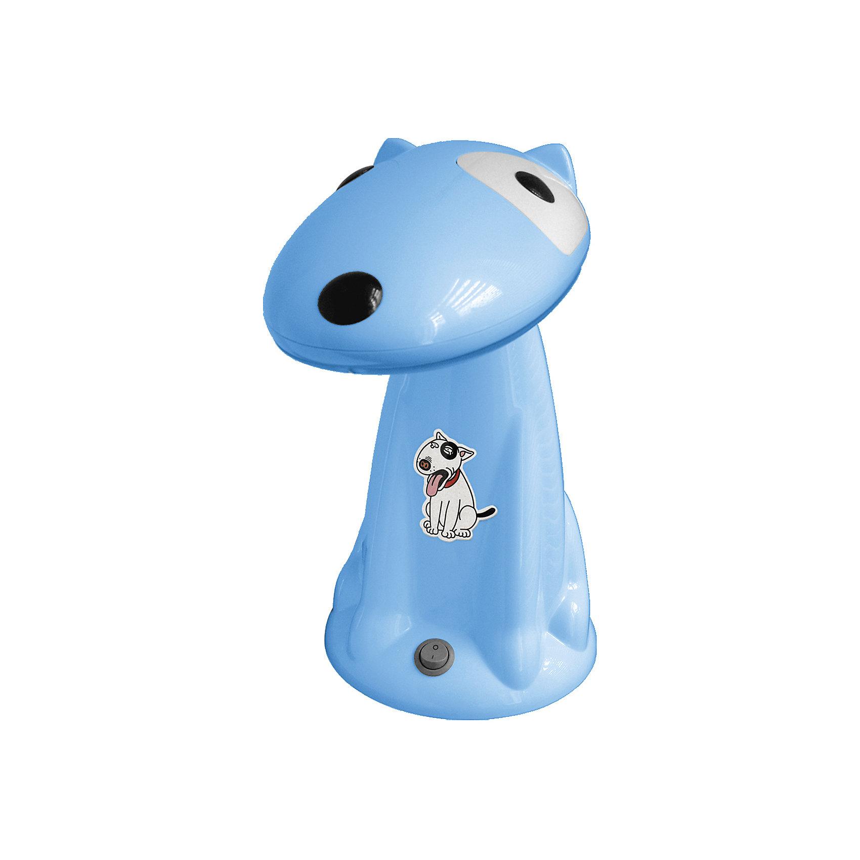 Настольный светильник Собака 18Вт КЛЛ, Ultra Light, голубойГолубой светильник Собака 18 Вт – детский светильник прекрасно подойдет для освещения рабочего стола и создания атмосферы уюта в комнате.<br>Светильник в виде прелестной собачки с энергосберегающей лампой доставит малышу множество приятных моментов в любое время суток! Он не только станет отличным другом, но и поможет ребенку в вечерние часы сделать уроки или почитать книгу. Ночью собачка послужит ночником и создаст в комнате уютную атмосферу, помогая малышу быстрее уснуть. Светильник выполнен из термоустойчивого пластика. Плафон подвижный, так что голову собачки можно опускать и поднимать, в зависимости от времени суток. Для безопасного использования лампа светильника закрыта рассеивателем, а выключатель расположен на устойчивом основании. Тщательно проработанный дизайн, удобная конструкция и высокое качество исполнения светильника, отвечают требованиям современных стандартов технических характеристик и требований энергосбережения. Запрещено использовать в качестве игрушки.<br><br>Дополнительная информация:<br><br>- В комплекте: светильник, энергосберегающая лампа<br>- Высота светильника: 31 см.<br>- Диаметр основания: 17 см.<br>- Материал корпуса: термостойкий пластик<br>- Питание: от сети 220В (50 Гц)<br>- Длина шнура: 160 см.<br>- Тип цоколя: Gx10q<br>- Мощность лампы: 18 Вт<br>- Размер упаковки: 29,5х19х32 см.<br>- Вес: 1480 гр.<br><br>Голубой светильник Собака 18 Вт можно купить в нашем интернет-магазине.<br><br>Ширина мм: 295<br>Глубина мм: 190<br>Высота мм: 320<br>Вес г: 1480<br>Возраст от месяцев: 36<br>Возраст до месяцев: 192<br>Пол: Унисекс<br>Возраст: Детский<br>SKU: 4641457