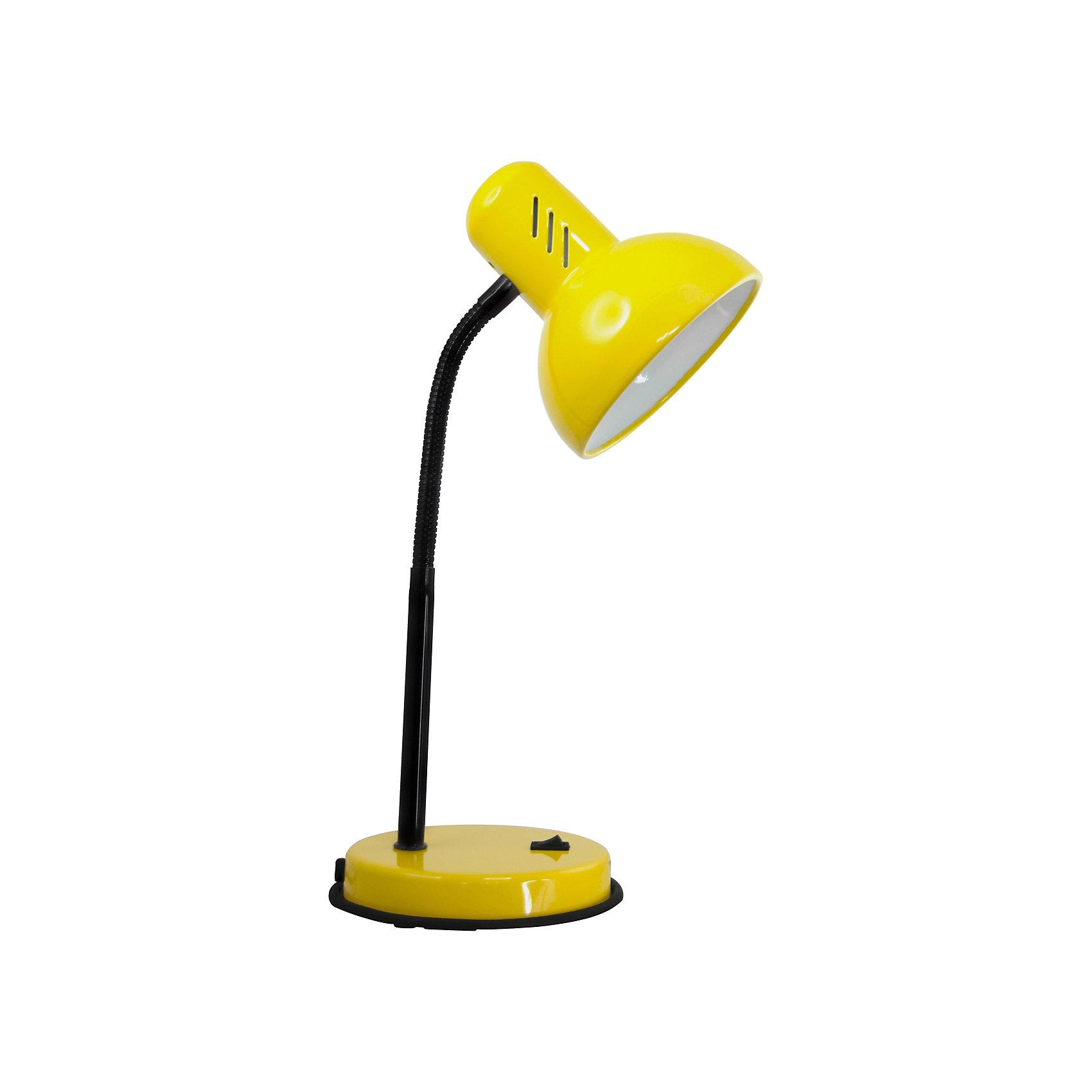 Настольный светильник Основание 40Вт ЛН, Ultra Light, жёлтыйЖёлтый светильник, 40 Вт – это классический светильник для освещения рабочего стола.<br>Жёлтый светильник классического дизайна идеально подойдет для освещения рабочего места дома и в офисе. Плафон изготовлен из облегчённого металла, покрыт специальной устойчивой эмалью. Патрон светильника прочно закреплён, изготовлен из керамики. Сетевой шнур с вилкой длиной 1,8м. имеет двойную изоляцию, не требует заземления. Вилка изготовлена из пластичного материала, предотвращающего появление трещин. Светильник удобен и практичен в использовании.<br><br>Дополнительная информация: <br><br>- Материал плафона: металл<br>- Цвет: желтый<br>- Питание: от сети 220В<br>- Тип цоколя: E27<br>- Мощность лампы: 40 Вт<br>- Длина шнура питания с вилкой: 1,8 м.<br>- Размер светильника: 16х30х13,3 см.<br>- Размер упаковки: 26х22,5х16,3 см.<br>- Вес: 860 гр.<br><br>Жёлтый светильник, 40 Вт можно купить в нашем интернет-магазине.<br><br>Ширина мм: 260<br>Глубина мм: 225<br>Высота мм: 163<br>Вес г: 860<br>Возраст от месяцев: 36<br>Возраст до месяцев: 192<br>Пол: Унисекс<br>Возраст: Детский<br>SKU: 4641465
