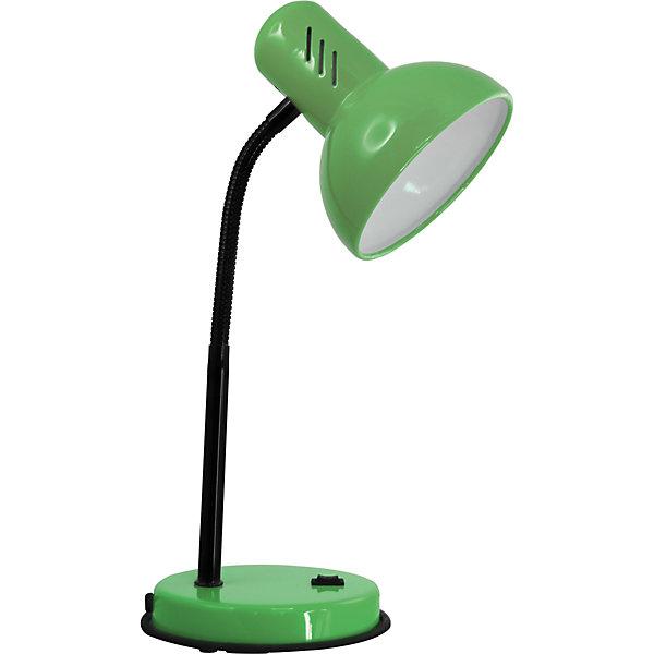 Настольный светильник Основание 40Вт ЛН, Ultra Light, зелёныйДетские предметы интерьера<br>Зеленый светильник, 40 Вт – это классический светильник для освещения рабочего стола.<br>Зеленый светильник классического дизайна идеально подойдет для освещения рабочего места дома и в офисе. Плафон изготовлен из облегчённого металла, покрыт специальной устойчивой эмалью. Патрон светильника прочно закреплён, изготовлен из керамики. Сетевой шнур с вилкой длиной 1,8м. имеет двойную изоляцию, не требует заземления. Вилка изготовлена из пластичного материала, предотвращающего появление трещин. Светильник удобен и практичен в использовании.<br><br>Дополнительная информация: <br><br>- Материал плафона: металл<br>- Цвет: зеленый<br>- Питание: от сети 220В<br>- Тип цоколя: E27<br>- Мощность лампы: 40 Вт<br>- Длина шнура питания с вилкой: 1,8 м.<br>- Размер светильника: 16х30х13,3 см.<br>- Размер упаковки: 26х22,5х16,3 см.<br>- Вес: 860 гр.<br><br>Зеленый светильник, 40 Вт можно купить в нашем интернет-магазине.<br>Ширина мм: 260; Глубина мм: 225; Высота мм: 163; Вес г: 860; Возраст от месяцев: 36; Возраст до месяцев: 192; Пол: Унисекс; Возраст: Детский; SKU: 4641467;