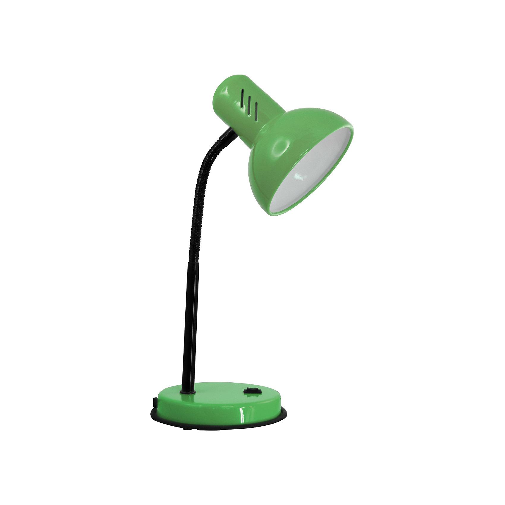 Настольный светильник Основание 40Вт ЛН, Ultra Light, зелёныйЛампы, ночники, фонарики<br>Зеленый светильник, 40 Вт – это классический светильник для освещения рабочего стола.<br>Зеленый светильник классического дизайна идеально подойдет для освещения рабочего места дома и в офисе. Плафон изготовлен из облегчённого металла, покрыт специальной устойчивой эмалью. Патрон светильника прочно закреплён, изготовлен из керамики. Сетевой шнур с вилкой длиной 1,8м. имеет двойную изоляцию, не требует заземления. Вилка изготовлена из пластичного материала, предотвращающего появление трещин. Светильник удобен и практичен в использовании.<br><br>Дополнительная информация: <br><br>- Материал плафона: металл<br>- Цвет: зеленый<br>- Питание: от сети 220В<br>- Тип цоколя: E27<br>- Мощность лампы: 40 Вт<br>- Длина шнура питания с вилкой: 1,8 м.<br>- Размер светильника: 16х30х13,3 см.<br>- Размер упаковки: 26х22,5х16,3 см.<br>- Вес: 860 гр.<br><br>Зеленый светильник, 40 Вт можно купить в нашем интернет-магазине.<br><br>Ширина мм: 260<br>Глубина мм: 225<br>Высота мм: 163<br>Вес г: 860<br>Возраст от месяцев: 36<br>Возраст до месяцев: 192<br>Пол: Унисекс<br>Возраст: Детский<br>SKU: 4641467