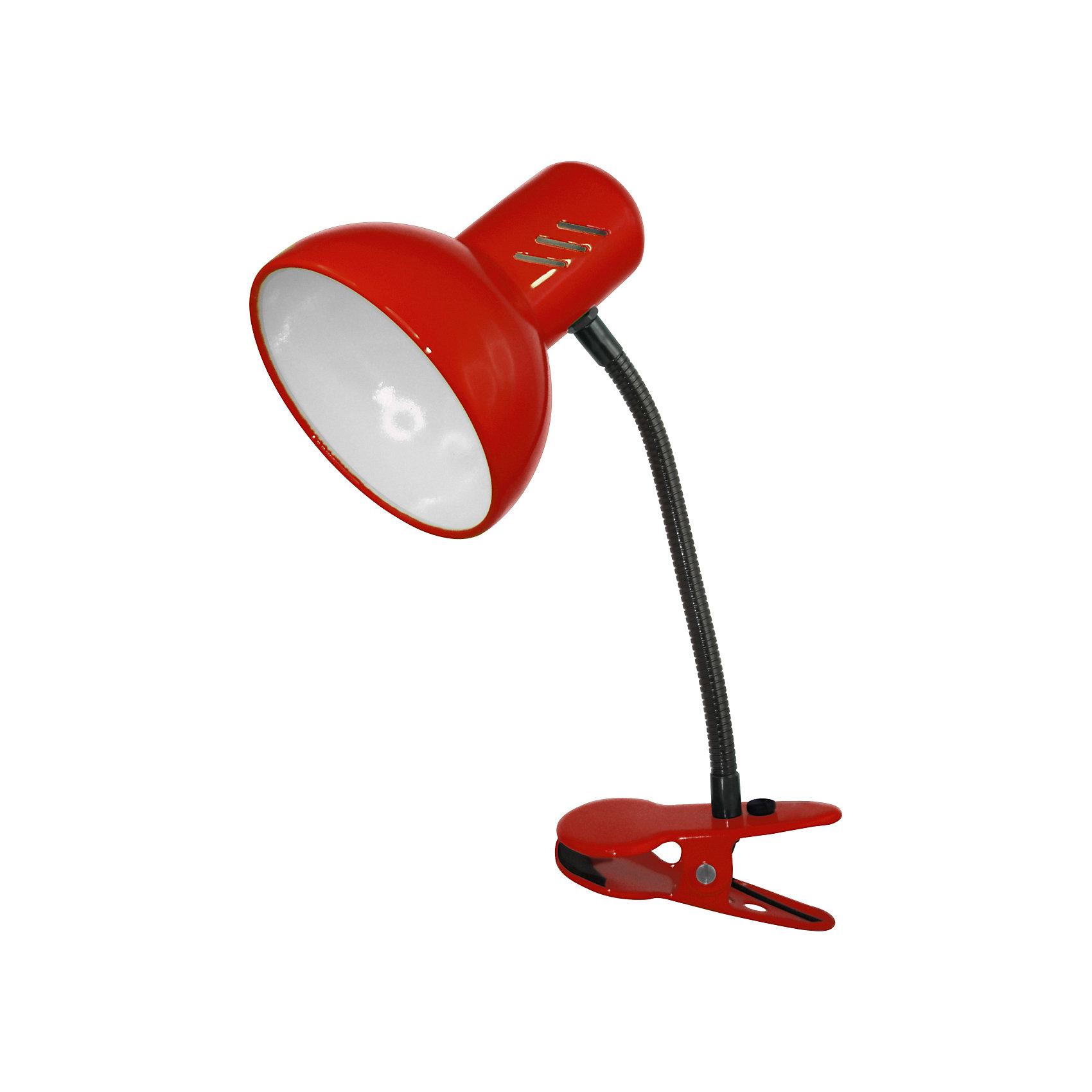 Красный светильник, 40 ВтЛампы, ночники, фонарики<br>Красный светильник, 40 Вт – это классический светильник для освещения рабочего стола.<br>Красный светильник классического дизайна идеально подойдет для освещения рабочего места дома и в офисе. Светильник крепиться с помощью зажима-прищепки. Плафон изготовлен из облегчённого металла, покрыт специальной устойчивой эмалью. Патрон светильника прочно закреплён, изготовлен из керамики. Сетевой шнур с вилкой длиной 1,8м. имеет двойную изоляцию, не требует заземления. Вилка изготовлена из пластичного материала, предотвращающего появление трещин. Светильник удобен и практичен в использовании.<br><br>Дополнительная информация: <br><br>- Материал плафона: металл<br>- Цвет: красный<br>- Питание: от сети 220В<br>- Тип цоколя: E27<br>- Мощность лампы: 40 Вт<br>- Длина шнура питания с вилкой: 1,8 м.<br>- Размер светильника: 17х22,5х12,5 см.<br>- Размер упаковки: 24х16х14 см.<br>- Вес: 642 гр.<br><br>Красный светильник, 40 Вт можно купить в нашем интернет-магазине.<br><br>Ширина мм: 240<br>Глубина мм: 160<br>Высота мм: 140<br>Вес г: 642<br>Возраст от месяцев: 36<br>Возраст до месяцев: 192<br>Пол: Унисекс<br>Возраст: Детский<br>SKU: 4641474