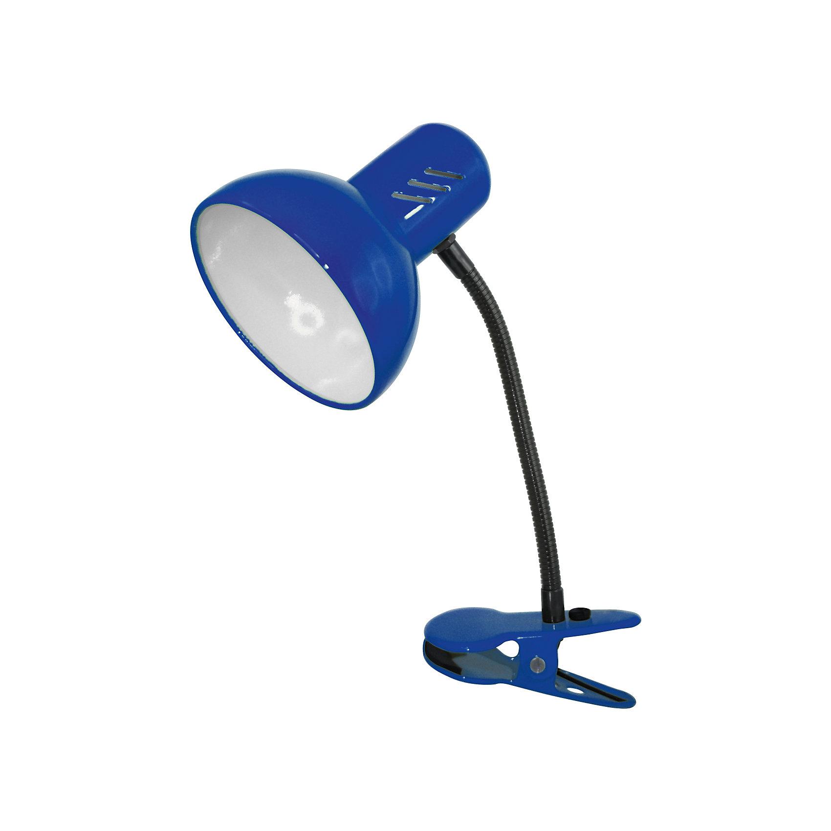Синий светильник, 40 ВтЛампы, ночники, фонарики<br>Синий светильник, 40 Вт – это классический светильник для освещения рабочего стола.<br>Синий светильник классического дизайна идеально подойдет для освещения рабочего места дома и в офисе. Светильник крепиться с помощью зажима-прищепки. Плафон изготовлен из облегчённого металла, покрыт специальной устойчивой эмалью. Патрон светильника прочно закреплён, изготовлен из керамики. Сетевой шнур с вилкой длиной 1,8м. имеет двойную изоляцию, не требует заземления. Вилка изготовлена из пластичного материала, предотвращающего появление трещин. Светильник удобен и практичен в использовании.<br><br>Дополнительная информация: <br><br>- Материал плафона: металл<br>- Цвет: синий<br>- Питание: от сети 220В<br>- Тип цоколя: E27<br>- Мощность лампы: 40 Вт<br>- Длина шнура питания с вилкой: 1,8 м.<br>- Размер светильника: 17х22,5х12,5 см.<br>- Размер упаковки: 24х16х14 см.<br>- Вес: 642 гр.<br><br>Синий светильник, 40 Вт можно купить в нашем интернет-магазине.<br><br>Ширина мм: 240<br>Глубина мм: 160<br>Высота мм: 140<br>Вес г: 642<br>Возраст от месяцев: 36<br>Возраст до месяцев: 192<br>Пол: Унисекс<br>Возраст: Детский<br>SKU: 4641475