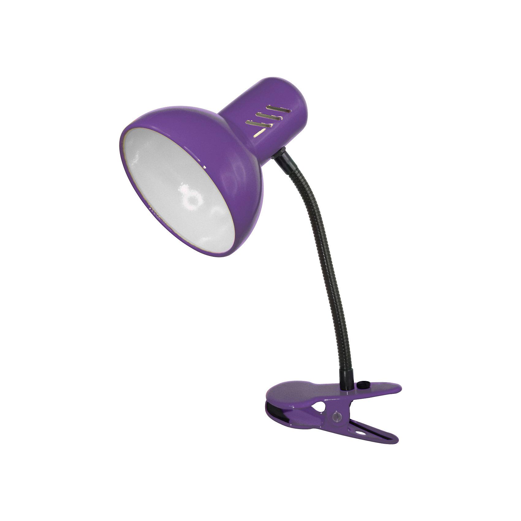 Фиолетовый светильник, 40 ВтФиолетовый светильник, 40 Вт – это классический светильник для освещения рабочего стола.<br>Фиолетовый светильник классического дизайна идеально подойдет для освещения рабочего места дома и в офисе. Светильник крепиться с помощью зажима-прищепки. Плафон изготовлен из облегчённого металла, покрыт специальной устойчивой эмалью. Патрон светильника прочно закреплён, изготовлен из керамики. Сетевой шнур с вилкой длиной 1,8м. имеет двойную изоляцию, не требует заземления. Вилка изготовлена из пластичного материала, предотвращающего появление трещин. Светильник удобен и практичен в использовании.<br><br>Дополнительная информация: <br><br>- Материал плафона: металл<br>- Цвет: фиолетовый<br>- Питание: от сети 220В<br>- Тип цоколя: E27<br>- Мощность лампы: 40 Вт<br>- Длина шнура питания с вилкой: 1,8 м.<br>- Размер светильника: 17х22,5х12,5 см.<br>- Размер упаковки: 24х16х14 см.<br>- Вес: 642 гр.<br><br>Фиолетовый светильник, 40 Вт можно купить в нашем интернет-магазине.<br><br>Ширина мм: 240<br>Глубина мм: 160<br>Высота мм: 140<br>Вес г: 642<br>Возраст от месяцев: 36<br>Возраст до месяцев: 192<br>Пол: Унисекс<br>Возраст: Детский<br>SKU: 4641477