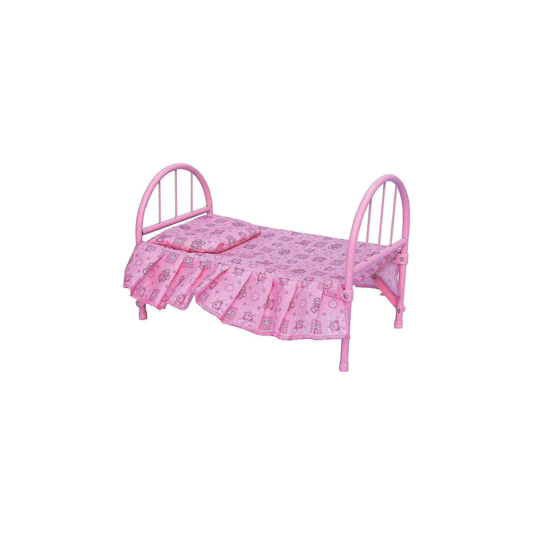 Кровать для куклы, 46*25*32 смДомики и мебель<br>Кровать для куклы 46*25*32 см (Китай)<br><br>Ширина мм: 460<br>Глубина мм: 270<br>Высота мм: 320<br>Вес г: 895<br>Возраст от месяцев: 36<br>Возраст до месяцев: 96<br>Пол: Женский<br>Возраст: Детский<br>SKU: 4642013