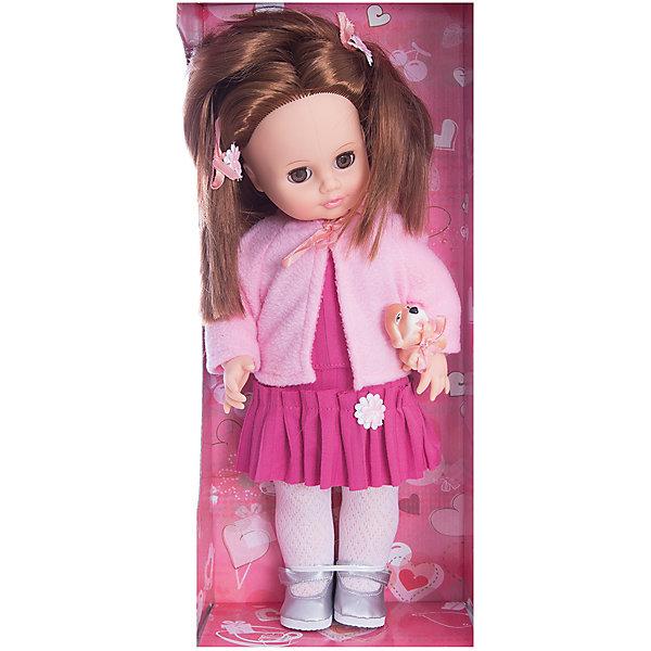 Кукла Анна с собачкой, 43 см, со звуком, ВеснаКуклы<br>Кукла для девочки - это не только игрушка, с которой можно весело провести время, кукла - это возможность отрабатывать навыки поведения в обществе, учиться заботе о других, делать прически и одеваться согласно моде и поводу.<br>Эта красивая классическая кукла не только эффектно выглядит, она дополнена звуковым модулем, который позволяет ей говорить до 10 фраз! Для этого достаточно нажать на кнопку, которая расположена на спине у куклы. Игрушка модно одета и снабжена аксессуарами. Такая кукла запросто может стать самой любимой игрушкой! Произведена из безопасных для ребенка и качественных материалов.<br><br>Дополнительная информация:<br><br>цвет: разноцветный;<br>материал: пластик, текстиль;<br>комплектация: кукла, одежда, аксессуары;<br>высота: 43 см.<br><br>Куклу Анну с собачкой, 43 см, со звуком, от компании Весна можно купить в нашем магазине.<br><br>Ширина мм: 210<br>Глубина мм: 130<br>Высота мм: 430<br>Вес г: 600<br>Возраст от месяцев: 36<br>Возраст до месяцев: 120<br>Пол: Женский<br>Возраст: Детский<br>SKU: 4642015