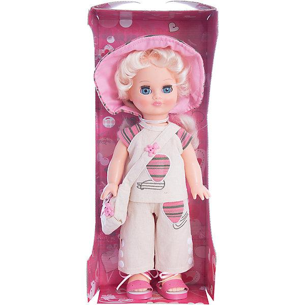 Кукла Элла 2 (пластмассовая), со звуком, 35,5 см, ВеснаКуклы<br>Игрушки от компании Весна - это простой способ порадовать ребенка! Кукла для девочки - это не только игрушка, с которой можно весело провести время, кукла - это возможность отрабатывать навыки поведения в обществе, учиться заботе о других, делать прически и одеваться согласно моде и поводу.<br>Эта красивая классическая кукла не только эффектно выглядит, она дополнена звуковым модулем! Игрушка модно одета и снабжена аксессуарами. Такая кукла запросто может стать самой любимой игрушкой! Произведена из безопасных для ребенка и качественных материалов.<br><br>Дополнительная информация:<br><br>цвет: разноцветный;<br>материал: пластик, текстиль;<br>комплектация: кукла, одежда, аксессуары;<br>высота: 35,5 см.<br><br>Куклу Элла 2 (пластмассовая), со звуком, 35,5 см, от компании Весна можно купить в нашем магазине.<br><br>Ширина мм: 170<br>Глубина мм: 100<br>Высота мм: 420<br>Вес г: 350<br>Возраст от месяцев: 36<br>Возраст до месяцев: 120<br>Пол: Женский<br>Возраст: Детский<br>SKU: 4642016
