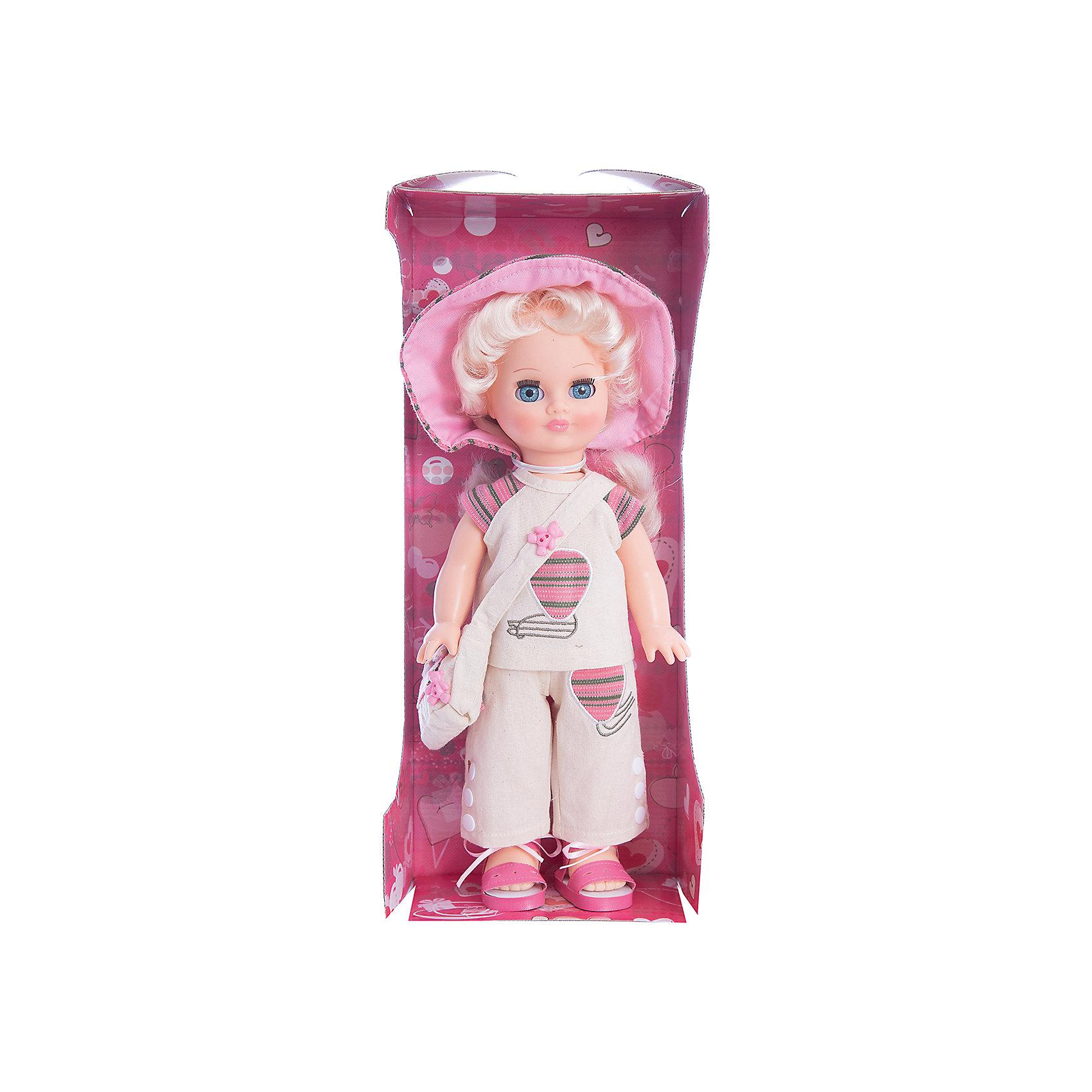 Кукла Элла 2 (пластмассовая), со звуком, 35,5 см, ВеснаКлассические куклы<br>Игрушки от компании Весна - это простой способ порадовать ребенка! Кукла для девочки - это не только игрушка, с которой можно весело провести время, кукла - это возможность отрабатывать навыки поведения в обществе, учиться заботе о других, делать прически и одеваться согласно моде и поводу.<br>Эта красивая классическая кукла не только эффектно выглядит, она дополнена звуковым модулем! Игрушка модно одета и снабжена аксессуарами. Такая кукла запросто может стать самой любимой игрушкой! Произведена из безопасных для ребенка и качественных материалов.<br><br>Дополнительная информация:<br><br>цвет: разноцветный;<br>материал: пластик, текстиль;<br>комплектация: кукла, одежда, аксессуары;<br>высота: 35,5 см.<br><br>Куклу Элла 2 (пластмассовая), со звуком, 35,5 см, от компании Весна можно купить в нашем магазине.<br><br>Ширина мм: 170<br>Глубина мм: 100<br>Высота мм: 420<br>Вес г: 350<br>Возраст от месяцев: 36<br>Возраст до месяцев: 120<br>Пол: Женский<br>Возраст: Детский<br>SKU: 4642016