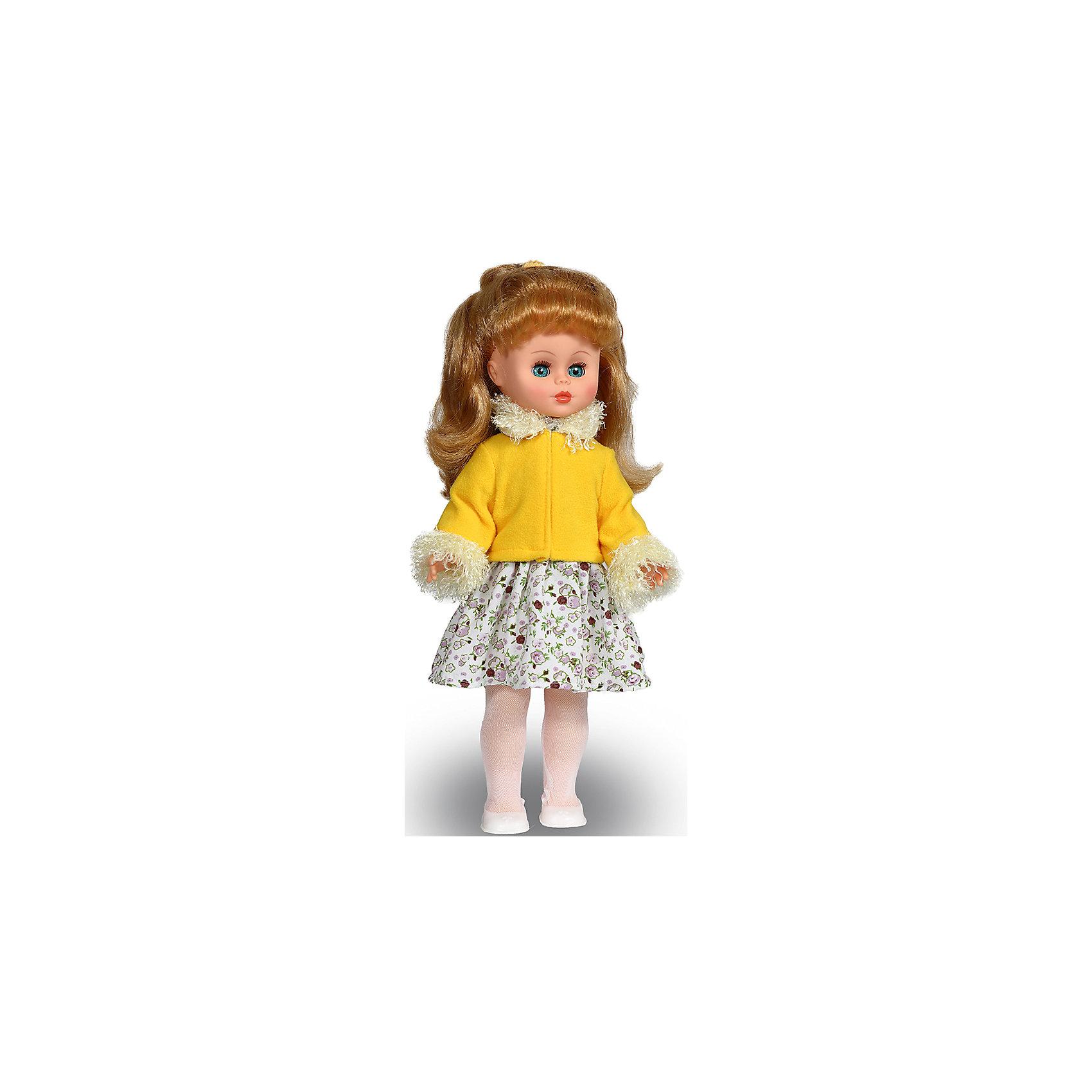Кукла Оля 15, со звуком, ВеснаКлассические куклы<br>Кукла для девочки - это не только игрушка, с которой можно весело провести время, кукла - это возможность отрабатывать навыки поведения в обществе, учиться заботе о других, делать прически и одеваться согласно моде и поводу.<br>Эта красивая классическая кукла не только эффектно выглядит, она дополнена звуковым модулем! Игрушка модно одета и снабжена аксессуарами. Такая кукла запросто может стать самой любимой игрушкой! Произведена из безопасных для ребенка и качественных материалов.<br><br>Дополнительная информация:<br><br>цвет: разноцветный;<br>материал: пластик, текстиль;<br>комплектация: кукла, одежда, аксессуары;<br>высота: 44 см.<br><br>Куклу Оля 15, со звуком, от компании Весна можно купить в нашем магазине.<br><br>Ширина мм: 490<br>Глубина мм: 210<br>Высота мм: 130<br>Вес г: 550<br>Возраст от месяцев: 36<br>Возраст до месяцев: 120<br>Пол: Женский<br>Возраст: Детский<br>SKU: 4642018