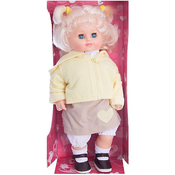 Кукла Соня, со звуком, 47 см, ВеснаКуклы<br>Игрушки от компании Весна - это простой способ порадовать ребенка! Кукла для девочки - это не только игрушка, с которой можно весело провести время, кукла - это возможность отрабатывать навыки поведения в обществе, учиться заботе о других, делать прически и одеваться согласно моде и поводу.<br>Эта красивая классическая кукла не только эффектно выглядит, она дополнена звуковым модулем! Игрушка модно одета и снабжена аксессуарами. Такая кукла запросто может стать самой любимой игрушкой! Произведена из безопасных для ребенка и качественных материалов.<br><br>Дополнительная информация:<br><br>цвет: разноцветный;<br>материал: пластик, текстиль;<br>комплектация: кукла, одежда, аксессуары;<br>высота: 47 см.<br><br>Куклу Соня, со звуком, 47 см, от компании Весна можно купить в нашем магазине.<br><br>Ширина мм: 210<br>Глубина мм: 130<br>Высота мм: 430<br>Вес г: 780<br>Возраст от месяцев: 36<br>Возраст до месяцев: 120<br>Пол: Женский<br>Возраст: Детский<br>SKU: 4642019