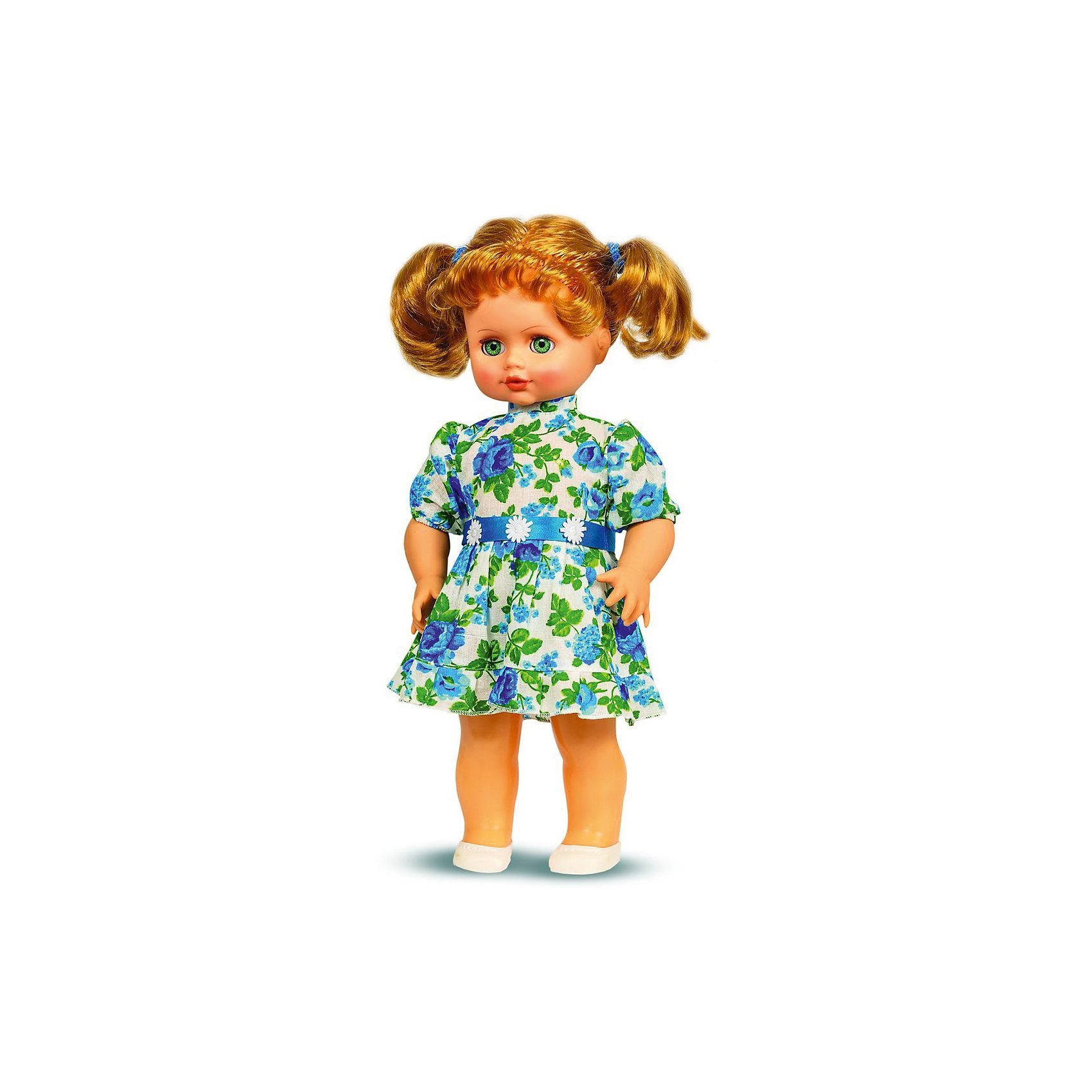 Кукла Инна 44, со звуком, 43 см, ВеснаКрасивая кукла Инна - отличный подарок девочке! Кукла для девочки - это не только игрушка, с которой можно весело провести время, кукла - это возможность отрабатывать навыки поведения в обществе, учиться заботе о других, делать прически и одеваться согласно моде и поводу.<br>Эта красивая классическая кукла не только эффектно выглядит, она дополнена звуковым модулем! Игрушка модно одета и снабжена аксессуарами. Такая кукла запросто может стать самой любимой игрушкой! Произведена из безопасных для ребенка и качественных материалов.<br><br>Дополнительная информация:<br><br>цвет: разноцветный;<br>материал: пластик, текстиль;<br>комплектация: кукла, одежда, аксессуары;<br>высота: 43 см.<br><br>Кукла Инна 44, со звуком, 43 см, от компании Весна можно купить в нашем магазине.<br><br>Ширина мм: 210<br>Глубина мм: 130<br>Высота мм: 430<br>Вес г: 550<br>Возраст от месяцев: 36<br>Возраст до месяцев: 120<br>Пол: Женский<br>Возраст: Детский<br>SKU: 4642023